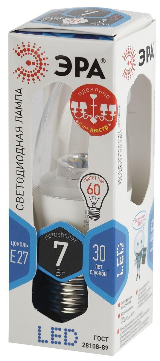 Лампа светодиодная ЭРА Clear, цоколь E27, 170-265V, 7W, 4000К. B35-7w-840-E27-ClearC0042416Светодиодная лампа ЭРА Clear является самым перспективным источником света. Основным преимуществом данного источника света является длительный срок службы и очень низкое энергопотребление, так, например, по сравнению с обычной лампой накаливания светодиодная лампа служит в среднем в 50 раз дольше и потребляет в 10-15 раз меньше электроэнергии. При этом светодиодная лампа практически не подвержена механическому воздействию из-за прочной конструкции и позволяет получить любой цвет светового потока, что, несомненно, расширяет возможности применения и позволяет создавать новые решения в области освещения.Светодиодная лампа серии Clear предназначена для хрустальных люстр. При их использовании хрусталь играет под яркими лучами. Угол рассеивания светового потока 270 градусов. Совместима с выключателями с подсветкой.