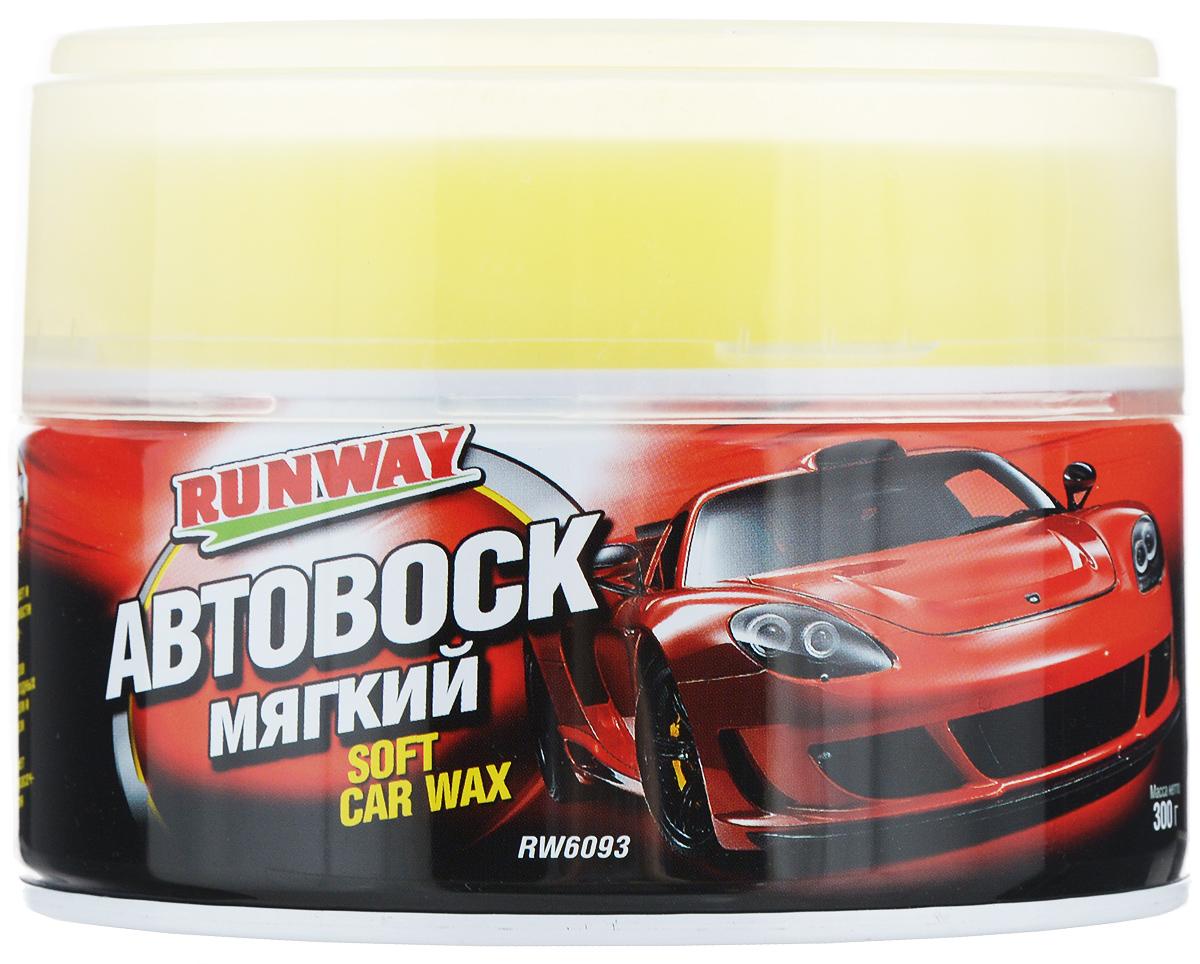 Автовоск мягкий Runway, с губкой, 300 г7650Мягкий автовоск Runway создан на основе чистейшего воска бразильской карнаубы. Идеально очищает, полирует и защищает окрашенные и хромированные поверхности автомобиля. Придает блеск оксидированным элементам кузова, удаляет небольшие загрязнения и следы подтеков, после мытья машины. Защищает кузов автомобиля от погодных воздействий, соли и дорожной грязи. Предотвращает выгорания лакокрасочного покрытия. Восстанавливает прежний вид лакокрасочному слою кузова автомобиля.Товар сертифицирован.