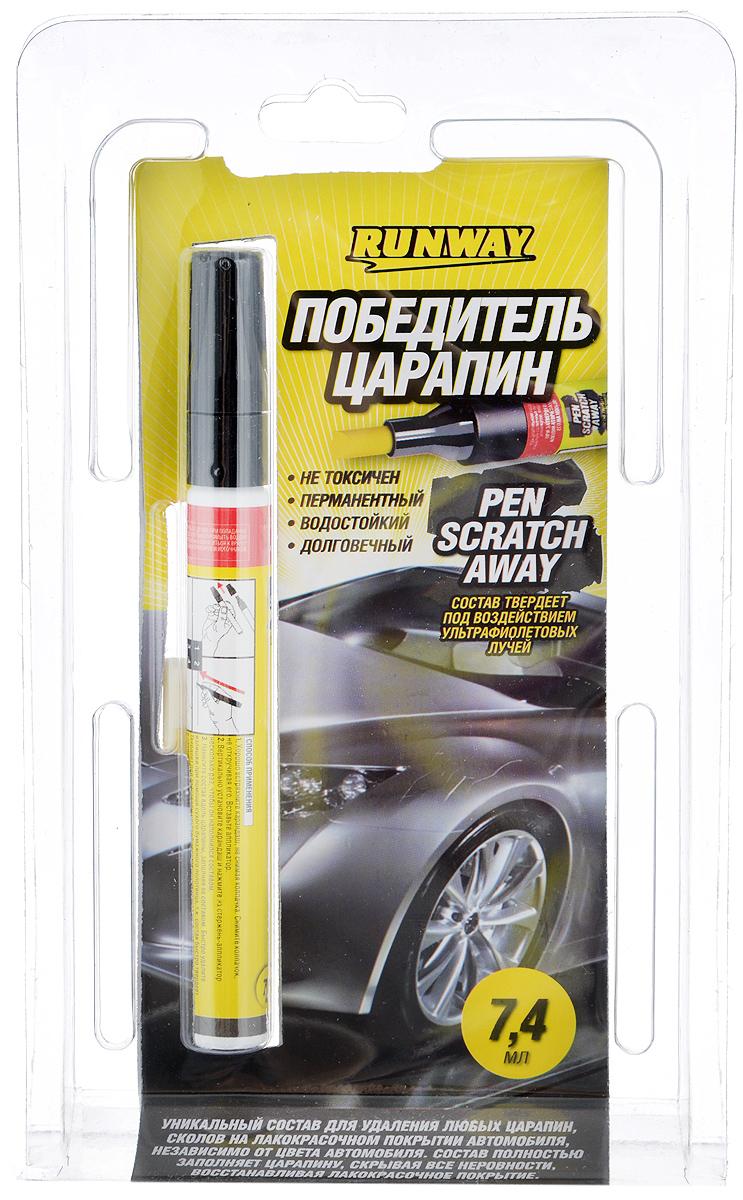 Победитель царапин Runway, 7,4 млRW0502Победитель царапин Runway – это уникальный состав для удаления любых царапин, сколов на лакокрасочном покрытии автомобиля, независимо от цвета автомобиля. Состав полностью заполняет царапину, скрывая все неровности, восстанавливая лакокрасочное покрытие автомобиля. Не токсичный, без запаха, водостойкий, долговечный, безопасен для лакокрасочного покрытия автомобиля.Товар сертифицирован.