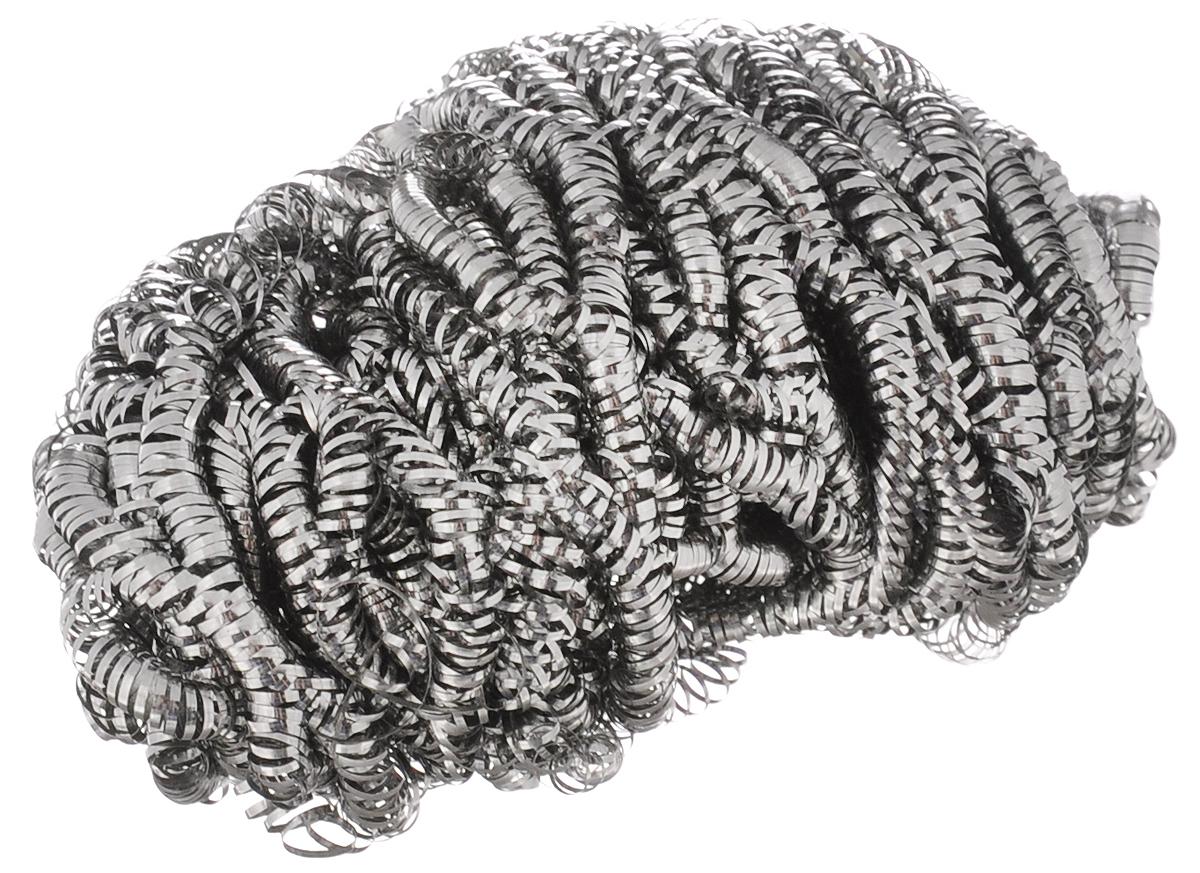 Мочалка металлическая Чистюля. ММ008100-49000000-60Мочалка металлическая Чистюля, изготовленная из нержавеющей стали, имеет маленький размер и облегченный вес. Благодаря спиральному плетению мочалка служит дольше и не прокалывает перчатки. Применяется для легкой и быстрой очистки сложных плотных загрязнений с металла и поверхностей, не боящихся царапин: стальная и чугунная посуда, противни, грили, духовки, плиты, кафель, стекло. Не рекомендуется использовать для посуды с антипригарным покрытием. Мочалка отлично удаляет пригар и старый жир. Незаменимый аксессуар для любой хозяйки.