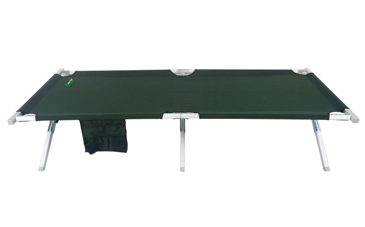 Кровать складная Canadian Camper CC-FB02AL, цвет: зеленый31100028Складная кровать-раскладушка, которая имеет увеличенные по сравнению с предыдущей моделью размеры. Легкая и при этом жесткая конструкция выдерживает вес до 140 кг. Как показывает практика, вы можете не только сами с комфортом разместиться на ней, но и при желании также разделить это ложе еще с одним человеком.