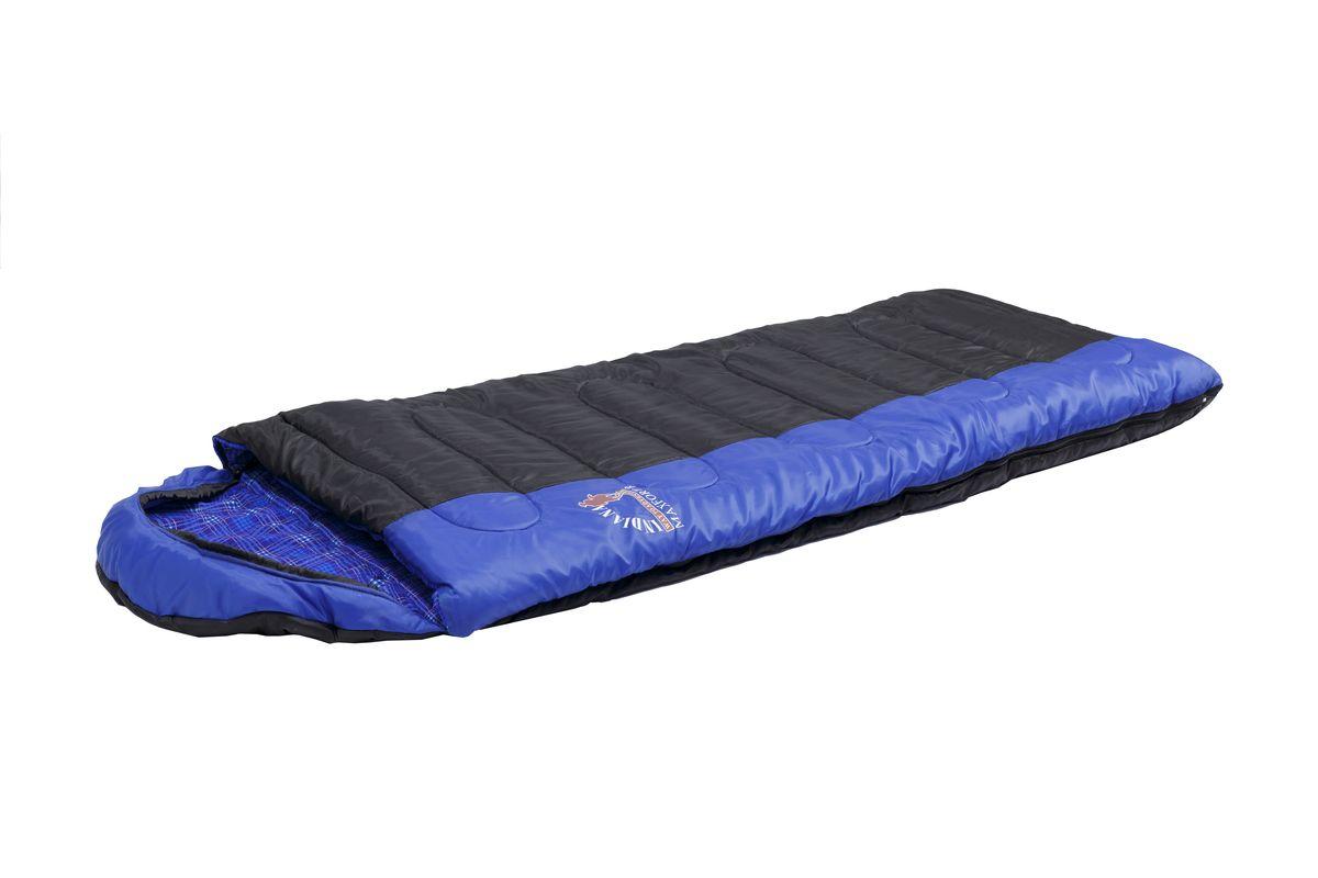 Спальный мешок Indiana Maxfort, левая молния, цвет: синий ,черный, 195 х 35 х 90 см67742Спальный мешок Maxfort L-zip от -8 C (одеяло с подголов фланель 195+35X90 см). Cпальный мешок-одеяло с капюшоном-подголовником, который можно использовать впутешествиях на природу и повседневной жизни. Отличительной особенностью этой модели, являетсяиспользования хлопковой фланели в качестве подкладки, что увеличивает комфортностьиспользования спальника. Выпускается как с левой так и с правой молнией, что позволяет соединитьдва спальник друг с другом.
