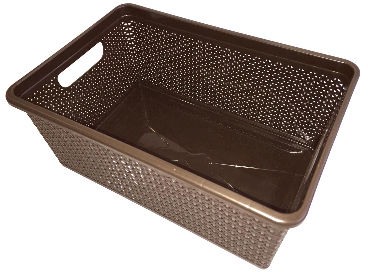 Корзина BranQ Natural Style, цвет: венге, 15 л74-0060Универсальная корзина BranQ Natural Style изготовлена из высококачественного цветного пластика с перфорацией. Она предназначена для хранения различных мелочей дома, на даче или в гараже. Для удобства переноски корзина оснащена двумя ручками. Позволяет хранить мелкие вещи, исключая возможность их потери. Элегантный выдержанный дизайн корзины позволяет ей органично вписаться в ваш интерьер и стать его элементом.