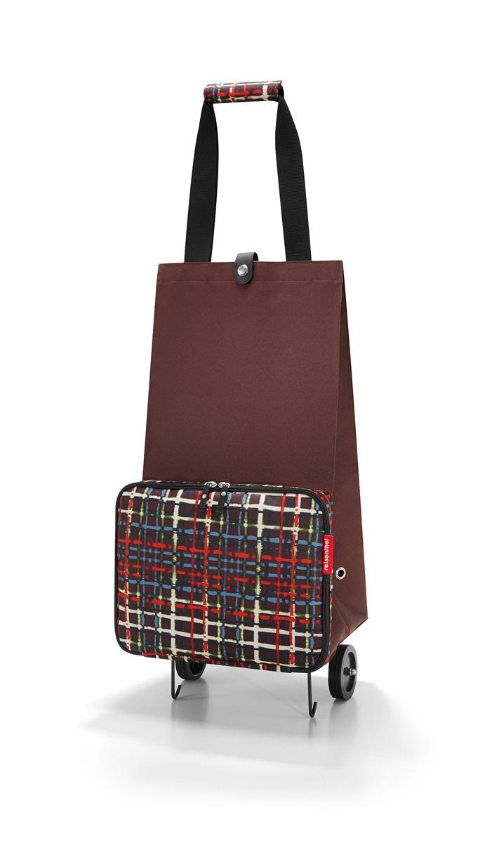 Сумка на колесиках Reisenthel Foldabletrolley wool, цвет: коричневый. HK7036A-B86-05-CОтличное решение для тех, кто не любит таскать тяжелые сумки и пакеты. С такой сумкой хоть в магазин, хоть на Северный полюс. Главный ее плюс в том, что она складывается до супер-компактного размера, так что ее легко хранить и брать с собой. Размер в сложенном виде: 6,5 х 25 х 32,5 см.Объем - 30 литров. Главное отделение застегивается на кнопку. Ручки удобно соединяются между собой с помощью липучки. Кромки днища специально укреплены и защищены, а само оно устойчиво, так что сумка не падает и не кренится.