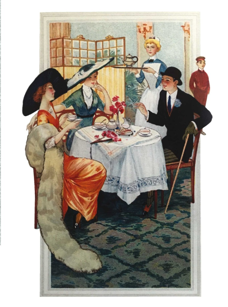 Поздравительная открытка в винтажном стиле № 17, формат А5. Автор Екатерина РождественскаяБрелок для ключейЗамечательная поздравительная открытка № 17 Банкет, формат А5. Автор Екатерина Рождественская