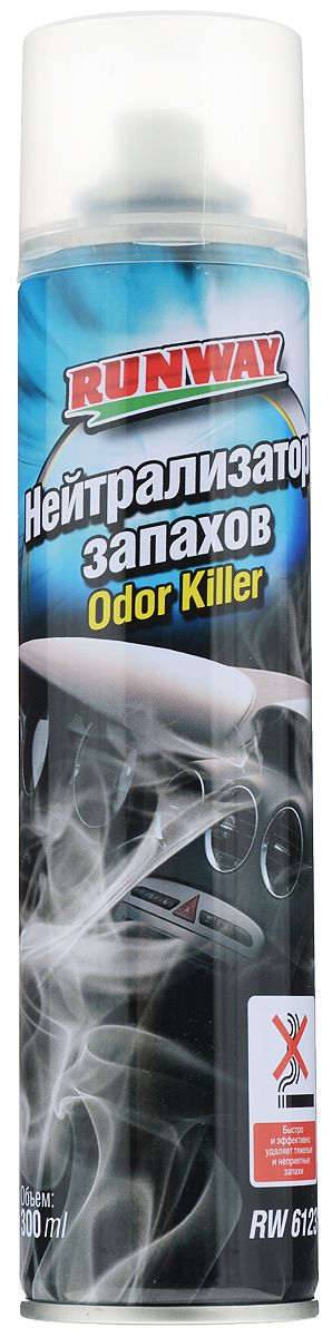 Нейтрализатор запахов Runway, 300 млRW6123Профессиональное средство Runway предназначено для нейтрализации летучих соединений. Применяется для удаления тяжелых и неприятных запахов на промышленном производстве, в салоне автомобиля и в быту, путем дальнейшей нейтрализации их. Устраняет сигаретный дым, запах продуктов питания, санитарии, запах животных, а также биологические запахи в ограниченных пространствах. Нейтрализатор запахов создает нейтральную атмосферу в помещении, в которой запахи удаляются без какой-либо замены другими запахами. Может использоваться на промышленном производстве и в быту.Товар сертифицирован.