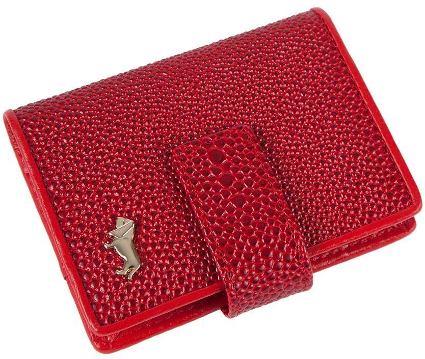 Визитница Labbra L048-0005 red392678Визитница торговый марки LABBRA из натуральной кожи. Модель вмещает 24 визитных карточки, имеется потайной кармашек. Закрывается на кнопку. плотная кожа с тиснением