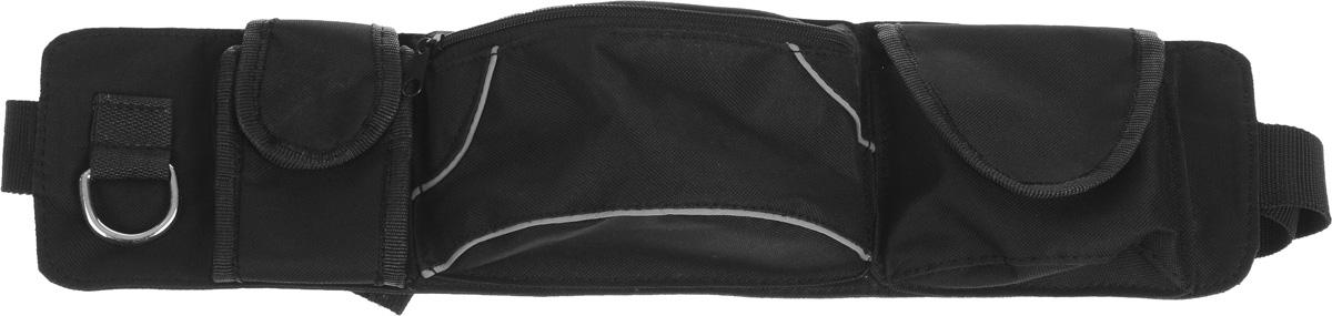 Сумка дрессировщика Каскад Компакт, 48 х 12 х 6 смDM-160133-4Сумка Каскад Компакт используется дрессировщиками для переноски различных аксессуаров. Изделие выполнено из прочного текстиля. Сумка оснащена 1 вместительным отделением, закрывающимся на застежку-молнию. По бокам имеется кольцо и 2 небольших кармана, закрывающихся на липучку. Сумка закрепляется на поясе при помощи ремня на защелке.