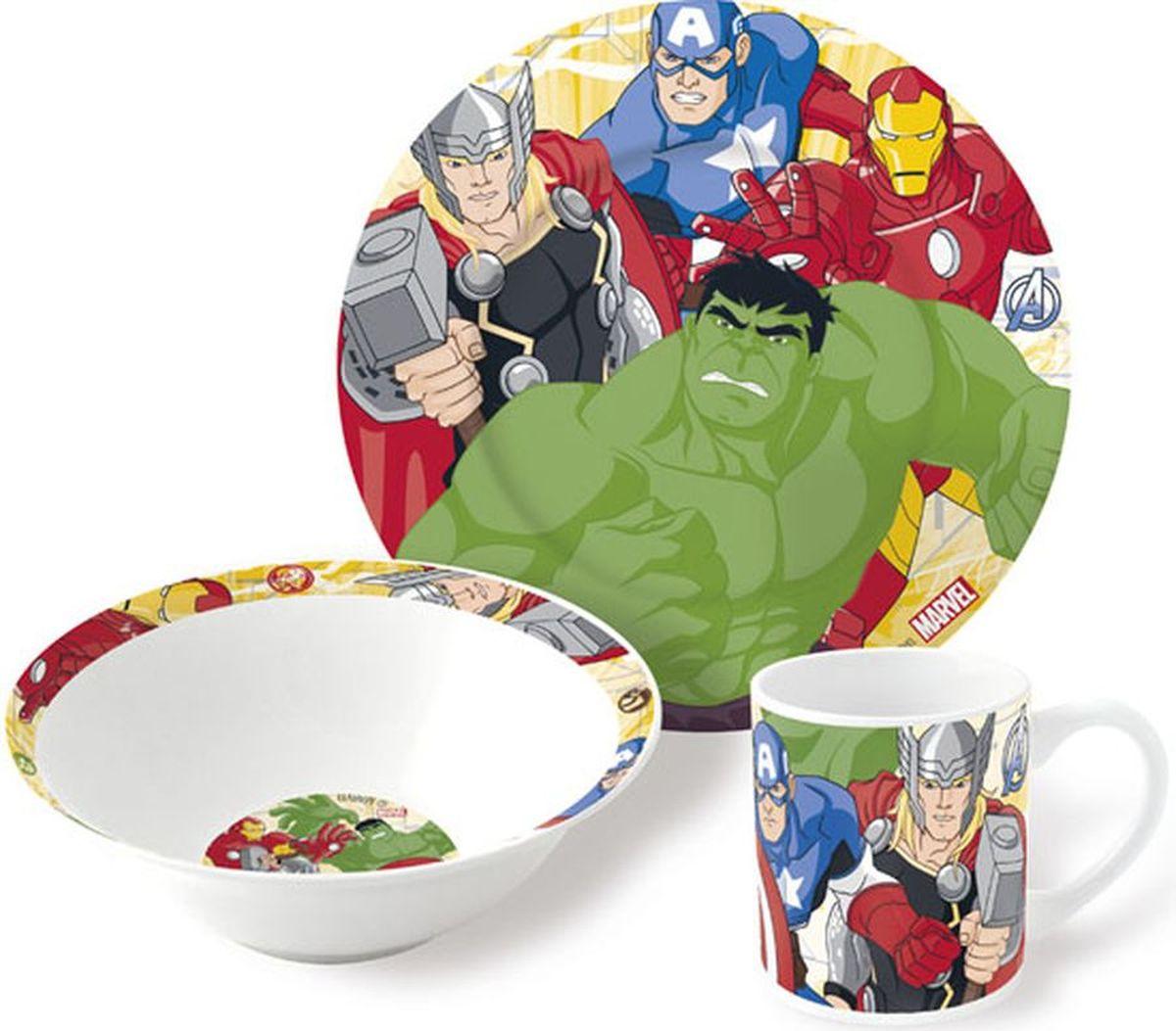 Marvel Набор детской посуды Мстители 3 предмета54 009312Набор детской посуды Marvel Мстители - яркая посуда с героями из популярного мультфильма. Набор, несомненно, привлечет внимание Вашего ребенка и не позволит ему скучать. Набор поставляется в удобной и красочной упаковке.