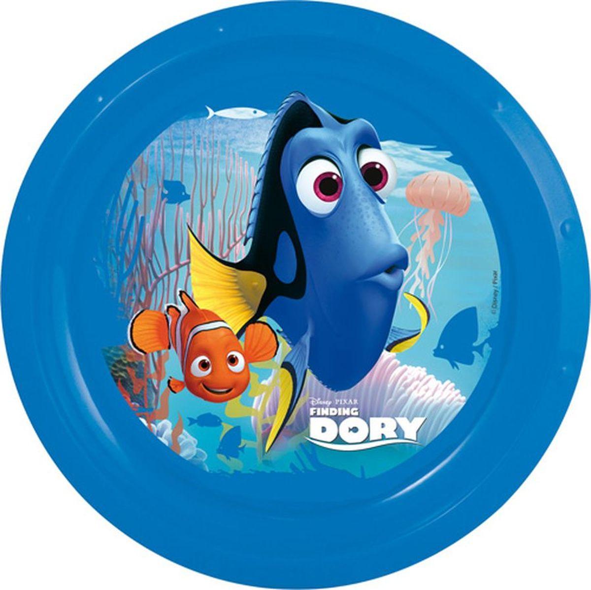 Disney Тарелка В поисках Дори диаметр 21,5 см115510Яркая тарелка Disney превратит процесс кормления вашего малыша в веселую игру. Дно оформлено изображением героев любимого мультфильма. Ваш ребенок будет кушать с большим удовольствием, стараясь быстрее добраться до картинки.