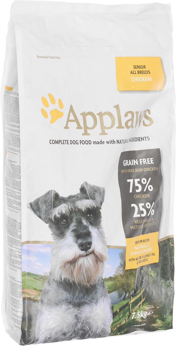 Корм сухой Applaws для пожилых собак, беззерновой, с курицей и овощами, 7,5 кг0120710Сухой корм для собак Applaws изготовлен по особым рецептам, разработанными диетологами института Великобритании. Правильная диета очень важна для питомцев, ведь она меняется в зависимости от жизненного цикла. Также полнорационные корма должны включать в себя необходимое количество витаминов и минералов. В рецептах сухих кормов Applaws учтен не только перечень наиболее необходимых минералов и витаминов, но и их строгий баланс. Так как сухой корм изготавливается только из натуральных качественных ингредиентов, крокеты привлекут внимание любого, даже очень привередливого питомца. Товар сертифицирован.