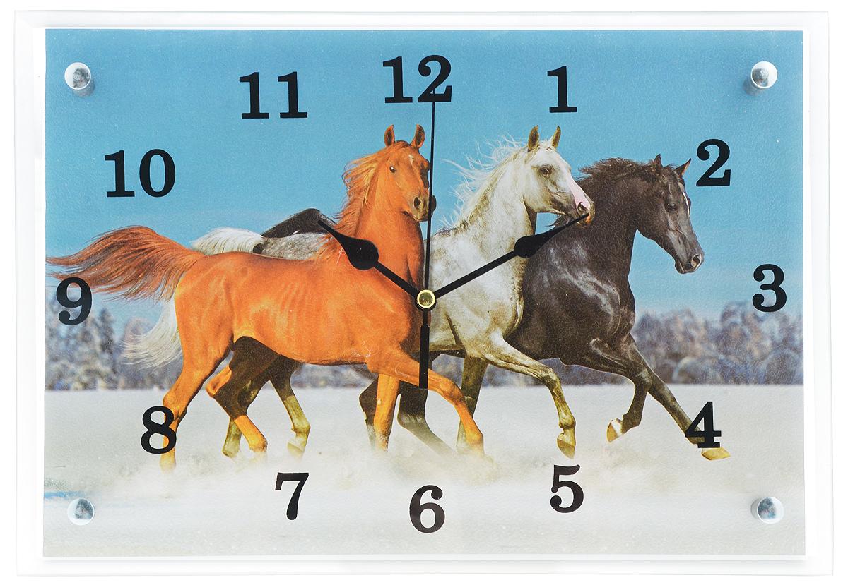 Часы настенные Proffi Home Тройка, 25 х 35 см94672Настенные кварцевые часы Proffi Home Тройка, изготовленные из ДВП и стекла, прекрасно подойдут под интерьер вашего дома. Прямоугольные часы имеют три стрелки: часовую, минутную и секундную. Часы оснащены металлической петелькой для подвешивания. Часы работают от 1 батарейки типа АА напряжением 1,5 В (не входит в комплект).Размер часов: 25 х 35 х 3,5 см.