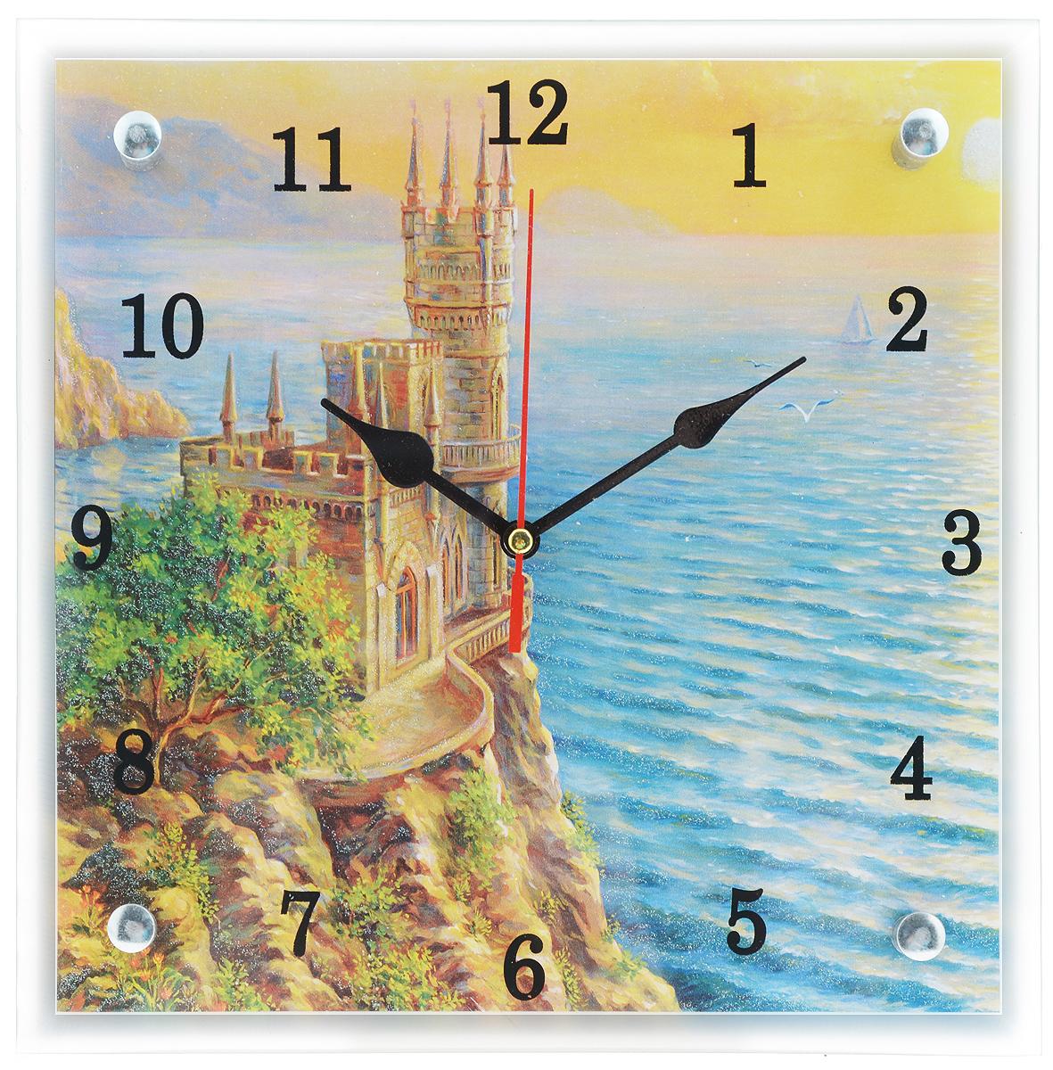 Часы настенные Proffi Home Ласточкино гнездо, 25 х 25 см17903Настенные кварцевые часы Proffi Home Ласточкино гнездо, изготовленные из ДВП и стекла, прекрасно подойдут под интерьер вашего дома. Квадратные часы имеют три стрелки: часовую, минутную и секундную. Часы оснащены металлической петелькой для подвешивания. Часы работают от 1 батарейки типа АА напряжением 1,5 В (не входит в комплект).Размер часов: 25 х 25 х 3,5 см.