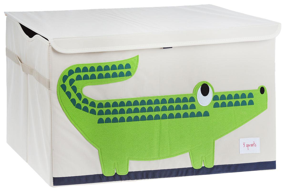 Фото 3 Sprouts Сундук для хранения игрушек Крокодил. Купить в РФ
