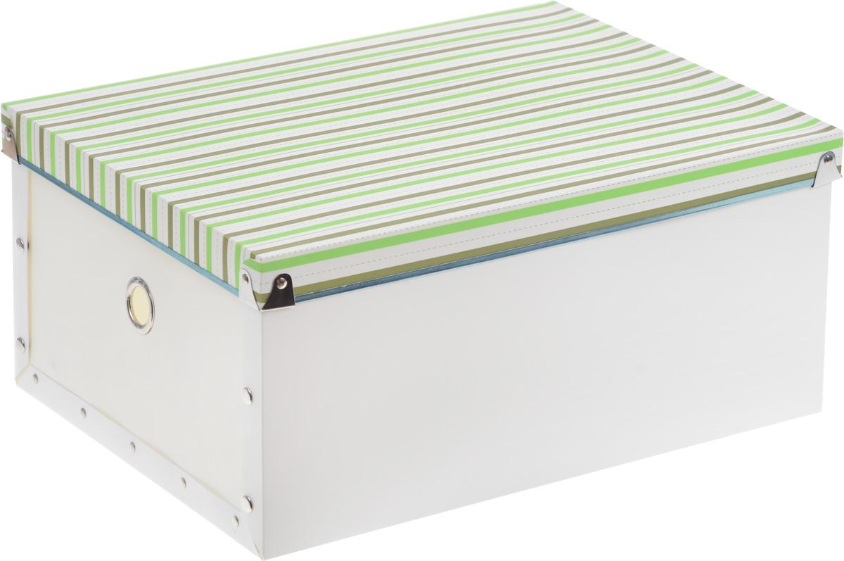 Короб для xранения Miolla, 30 x 40 x 18 смCHL-8-1Короб для xранения Miolla, изготовленный из прочного полипропилена, предназначен для хранения различных мелочей в доме, офисе или на даче. Короб оформлен оригинальным принтом в полоску, что придает ему стильный внешний вид. Он легко собирается и скрепляется при помощи кнопок. Вместительный короб для хранения создан, чтобы навести порядок в вашем доме. Он бережно сохранит важные документы или просто дорогие сердцу мелочи. Оригинальный дизайн с полосатым орнаментом прекрасно подойдет для любого интерьера.