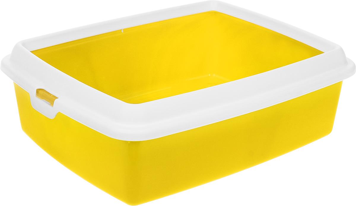 Туалет для кошек MPS Hydra Maxi, с рамкой, цвет: желтый, 50 х 40 х 16,5 см12171996Туалет для кошек MPS Hydra Mini выполнен из прочного пластика. Высокие бортики и рама, прикрепленная к лотку, предотвращают разбрасывание наполнителя.Благодаря качественным материалам лоток легко убирается, быстро сохнет и не впитывает посторонние запахи.