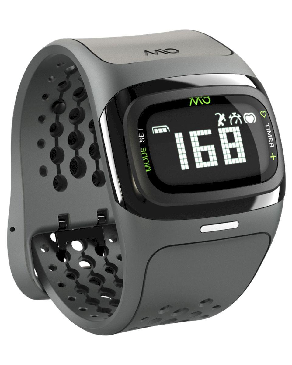 Спортивные часы Mio ALPHA 2 Black Large, цвет: серый, черныйSCH01-PurpleMio ALPHA 2 - это спортивные часы с высокоточным оптическим пульсометром и одновременно фитнес-трекер, которые могут работь как самостоятельно, так и в паре с популярными фитнес-приложениями на смартфонах на базе iOS и Android- Датчик пульса (MIO Optical Heart Rate Technology)- Подключается к смартфону по Bluetooth Smart (Bluetooth 4.0)- Отображение пульса на дисплее в режиме реального времени- Часы, хронограф и различные таймеры для режима тренировки- Подсчет ежедневной активности (шаги, калории, дистанция)- Отображение данных тренировки на дисплее (темп, скорость, дистанция)- Подсчет затраченных калорий исходя из нагрузки на сердце (пульса)- Звуковые уведомления при переходе между зонами пульса- RGB-светодиод, индицирующей одну из пяти пульсовых зон- Монохромный ЖК-дисплей с подсветкой / водонепроницаемость - 30м- Аккумулятор: 3 месяца в базовом режиме / 20-24 часа в режиме тренировки- Память: 14 дней в базовом режиме / до 25 часов данных тренировок- Совместимость: iPhone & Android / собственнные приложения и популярные сторонние