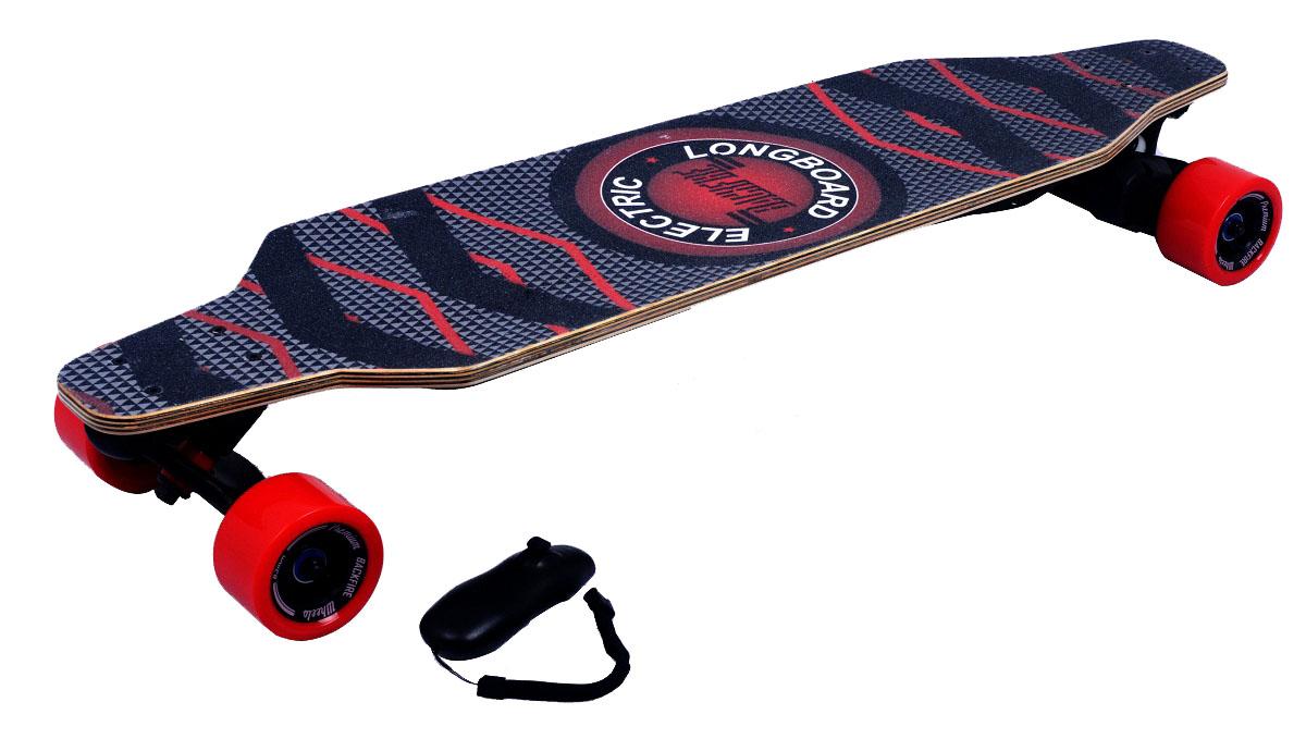 Электроскейт Backfire с рекуперативной системой торможения и bluetooth джойстиком, цвет: красный