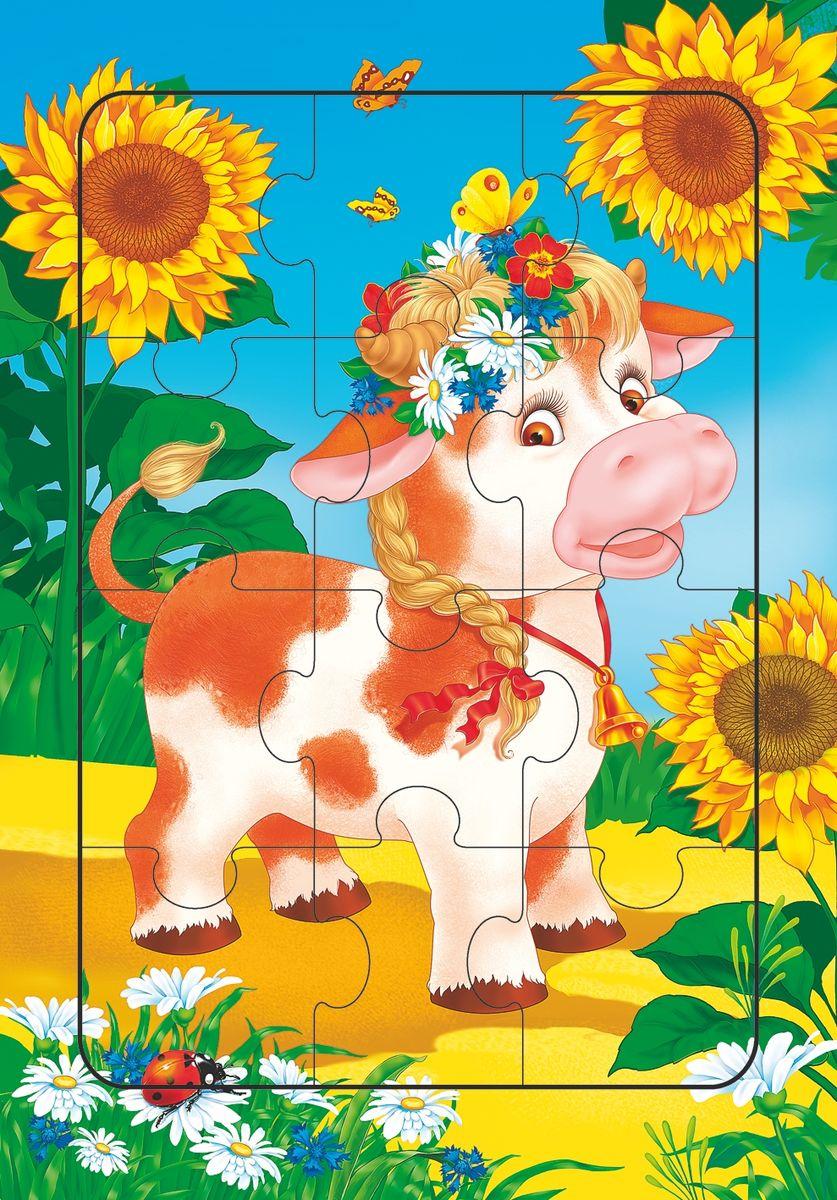 Дрофа-Медиа Пазл для малышей Коровка 2460 дрофа медиа пазл для малышей играй и собирай 4 в 1 2938