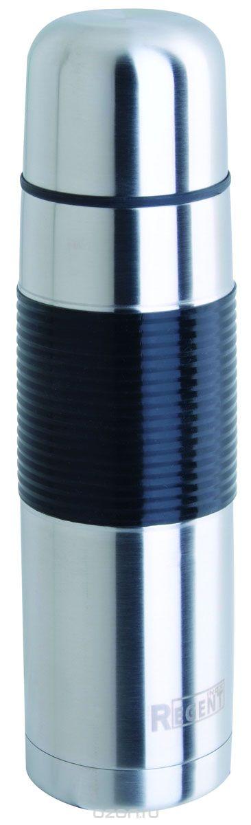 Термос Regent Inox, 0,5 л. 93-TE-B-2-500901_синийТермос Regent Inox изготовлен из высококачественной пищевой нержавеющей стали с современной технологией теплоизолляции. Высокая надёжность и долговечность. Имеется глубокий вакуум и двойная металлическая колба, способствующая более длительному сохранению тепла. Термос удобен в использовании дома, на даче, в турпоходе и на рыбалке. Пригодится на работе, в офисе и командировке, экономит электроэнергию и время. Прилагается чехол из кожзама, на ремне. Характеристики:Материал: пластик, нержавеющая сталь, резина. Объем: 0,5 л. Диаметр термоса: 6,5 см. Высота термоса (с учётом крышки): 24,5 см. Размер упаковки: 8 см х 8 см х 26 см. Артикул: 93-TE-B-2-500.