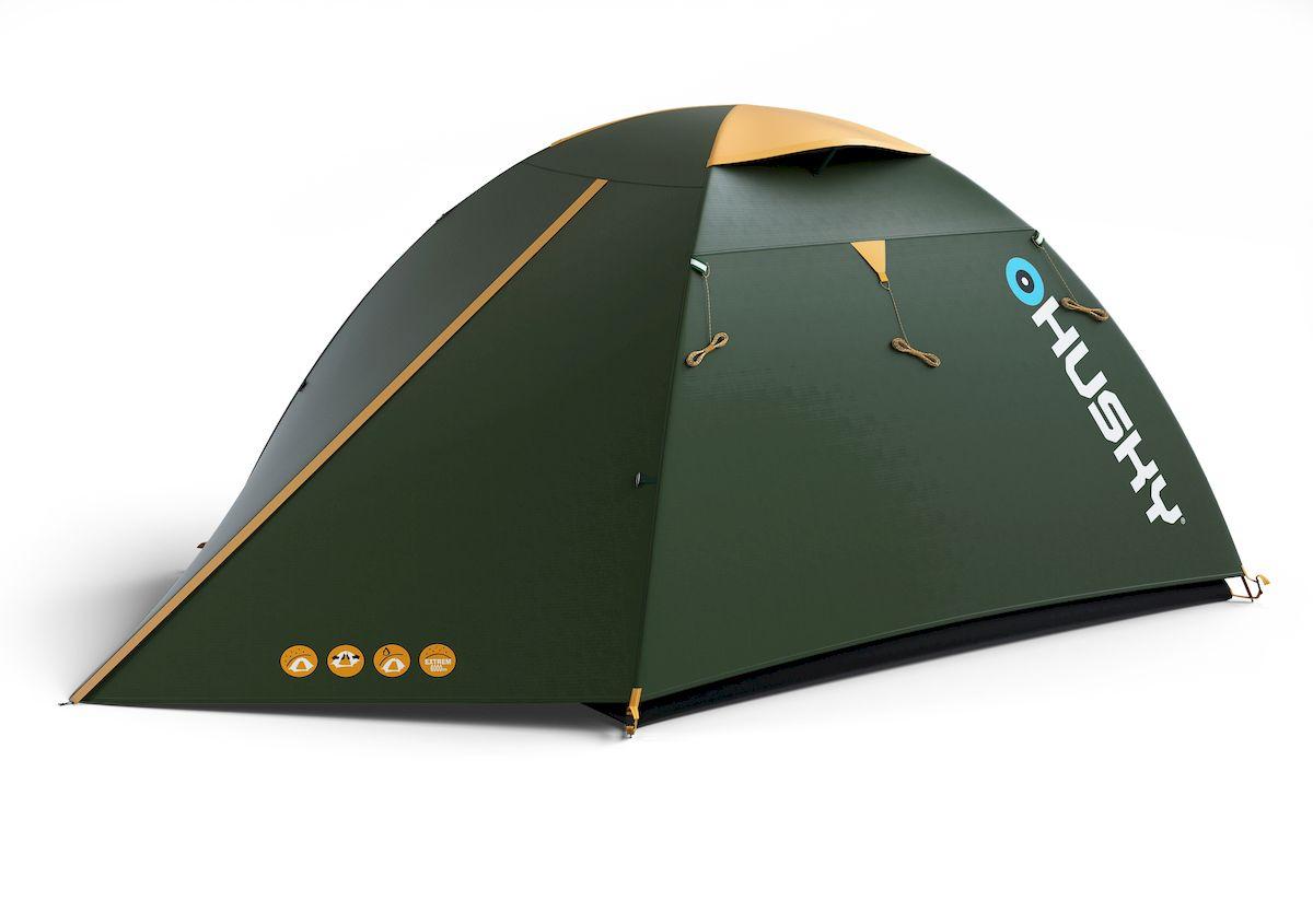 Палатка туристическая Husky BIRD 3 CLASSIC, цвет: зеленыйУТ-000046941Палатка BIRD 3 CLASSIC - бюджетный вариант проверенной палатки BIRD с одним входом. По сравнению с основной моделью пол выполнен из армированного полиэтилена.Вы оцените скорость, с которой она может быть установлена, и ее маленький транспортный объем.Идеал для трех непривередливых туристов. Подходит для легкого пешего туризма и кемпинга. Особенности:- Ленточные швы- Застежка-молния с двойным ходом- Фибергласовые дуги (durawrap), диаметр 7,9 мм- Комфортная вентиляционная система- Наружный тент - из полиэстера 185Т, водостойкость 3000 мм.вд.ст- Внутренний тент - дышащий нейлон 190Т, противомоскитные сетки- Пол - армированный полиэтилен, водостойкость 5000 мм.вд.стКомплектация: стальные колышки, ремкомплект, компрессионный мешок, сетка для мелочей.Вес: 3,1 кг/3,5 кг;Количество мест: 3;Количество входов: 1;Высота: 125 см;Длина: 300 см;Ширина: 185 см;Размер спальни: 210 х 180 см;Размер в сложенном виде: 45 х 15 см.