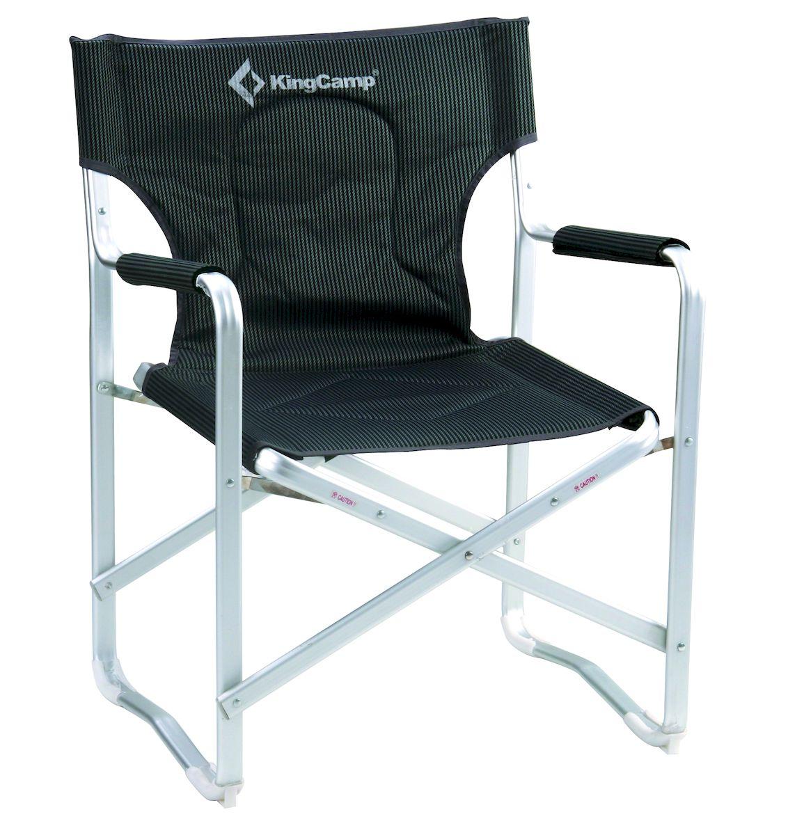 Кресло складное KingCamp DIRECTOR DELUX KC3811, цвет: черно-серыйУТ-000049511Складное кресло с подлокотниками KingCamp DIRECTOR DELUX KC3811 станет незаменимым в походе, на природе, на рыбалке или на даче. Кресло имеет прочный каркас из алюминия и покрытие из ткани Oxford PVC (полиэстер). Кресло легко собирается и разбирается и не занимает много места. Ширина: 63 см (сиденье 54 см).Глубина: 53 см. Высота: 84 см (сиденье 43 см).Вес: 3,5 кг.
