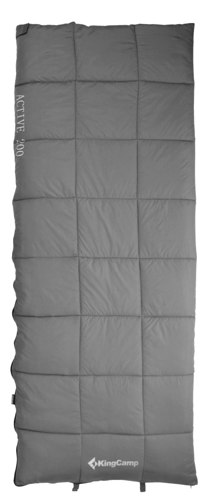 Спальник - одеяло KingCamp ACTIVE 200 -2С, цвет: серый010-01199-23Спальный мешок ACTIVE 200 Артикул: KS 3188Синтетический спальник-одеяло для трех сезонов Размеры в упакованном виде: 32 см х 20 см Размеры: 190х75 см Вес: 1300 г Внешний материал: полиэстер 210Т RipStop W/P;внутренний материал: 100% хлопок (фланель); наполнитель: четырехканальное волокно Hollowfibre, 200 г/м2 Клапан на застежке – молнии Двусторонняя застежка-молния Сумка для переноски из нейлона Температура: комфорт +8С - +16C, экстрим -2С Назначение: треккинг, велотуризм, кемпинг