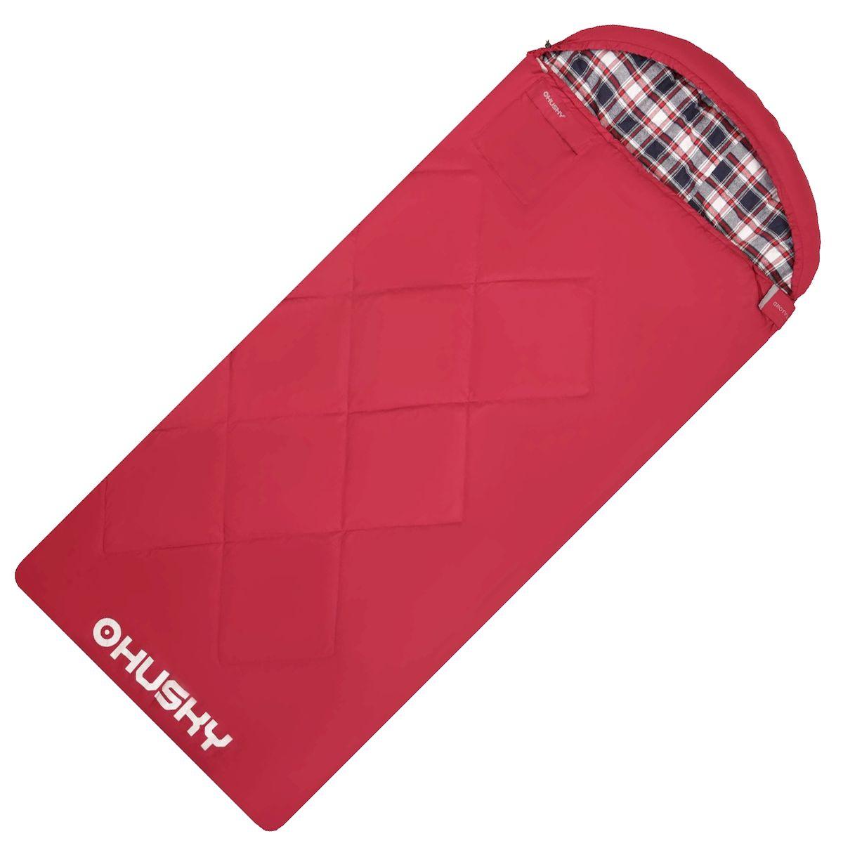Спальник - одеяло Husky GROTY LADY -5С, правая молния, цвет: красный010-01199-23Спальник-одеяло с подголовником женский до -5°C (НОВИНКА)GROTY LADYДвухслойный женский спальный мешок-одеяло для кемпинга. Утеплитель из 4-х канального холофайбера, превосходная комбинация теплового комфорта с комфортом традиционного спального мешка-одеяла. Groty можно использовать не только на природе, но и в помещении как традиционное одеяло.Размеры: 85х200 смРазмеры в сложенном виде: 45х35х17 смВес: 2450 гЭкстремальная температура: -5 СКомфортная температура: -0 С ... +5 С- Внешний материал: Pongee 75D 210T (лен)- Внутренний материал: флис (полиэстер)- Утеплитель: 2 слоя 150 г/м2 HollowFibre,- Конструкция: два слоя- Компрессионный мешок- Петли для сушки