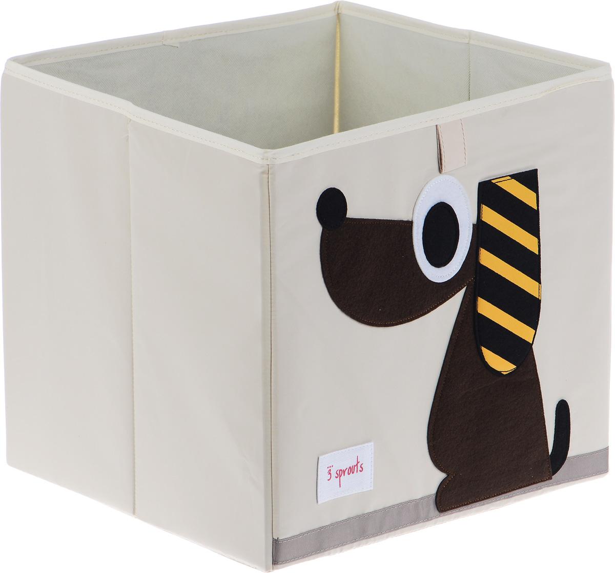 3 Sprouts Коробка для хранения Собачка67621Коробка для хранения 3 Sprouts Собачка - это отличный вариант организации пространства любой комнаты.Стороны коробки усилены с помощью картона, поэтому она всегда стоит ровно. Помещается практически во все стеллажи с квадратными отсеками и добавляет озорства любой комнате. Стоит ли коробка отдельно или на полке стеллажа, она обеспечит прекрасную организацию в вашем доме.Не содержит фталаты. Уход: снаружи - только выведение пятен.