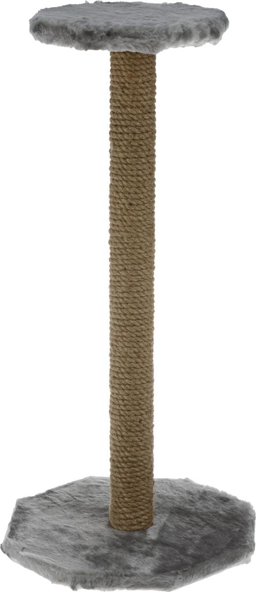 Когтеточка ЗооМарк, с полкой, цвет: серый, высота 75 см101-1_серыйКогтеточка ЗооМарк поможет сохранить мебель и ковры в доме от когтей вашего любимца, стремящегося удовлетворить свою естественную потребность точить когти. Когтеточка изготовлена из дерева, искусственного меха и джута. Товар продуман в мельчайших деталях и, несомненно, понравится вашей кошке. Сверху имеется полка.Всем кошкам необходимо стачивать когти. Когтеточка - один из самых необходимых аксессуаров для кошки. Для приучения к когтеточке можно натереть ее сухой валерьянкой или кошачьей мятой. Когтеточка поможет вашему любимцу стачивать когти и при этом не портить вашу мебель.Размер основания: 35 х 35 см.Высота когтеточки: 75 см.Размер полки: 25,5 х 25,5 см.