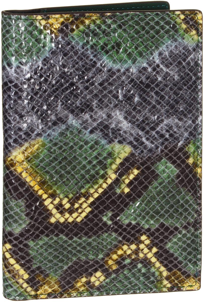 Обложка для документов женская Vitacci, цвет: зеленый. HS087A52_108Стильная обложка для документов от Vitacci выполнена из натуральной лакированной кожи с тиснением под рептилию. Внутри расположено два боковых кармана, один из которых прозрачный и пять карманов для визиток. Также внутри находится съемный блок из шести прозрачных файлов из мягкого пластика, один из которых формата А5, а также четыре накладных кармана для визиток или кредитных карт.Изделие упаковано вфирменную коробку. Такая обложка для документов идеально подойдет для любого образа и сохранит ваши документы.