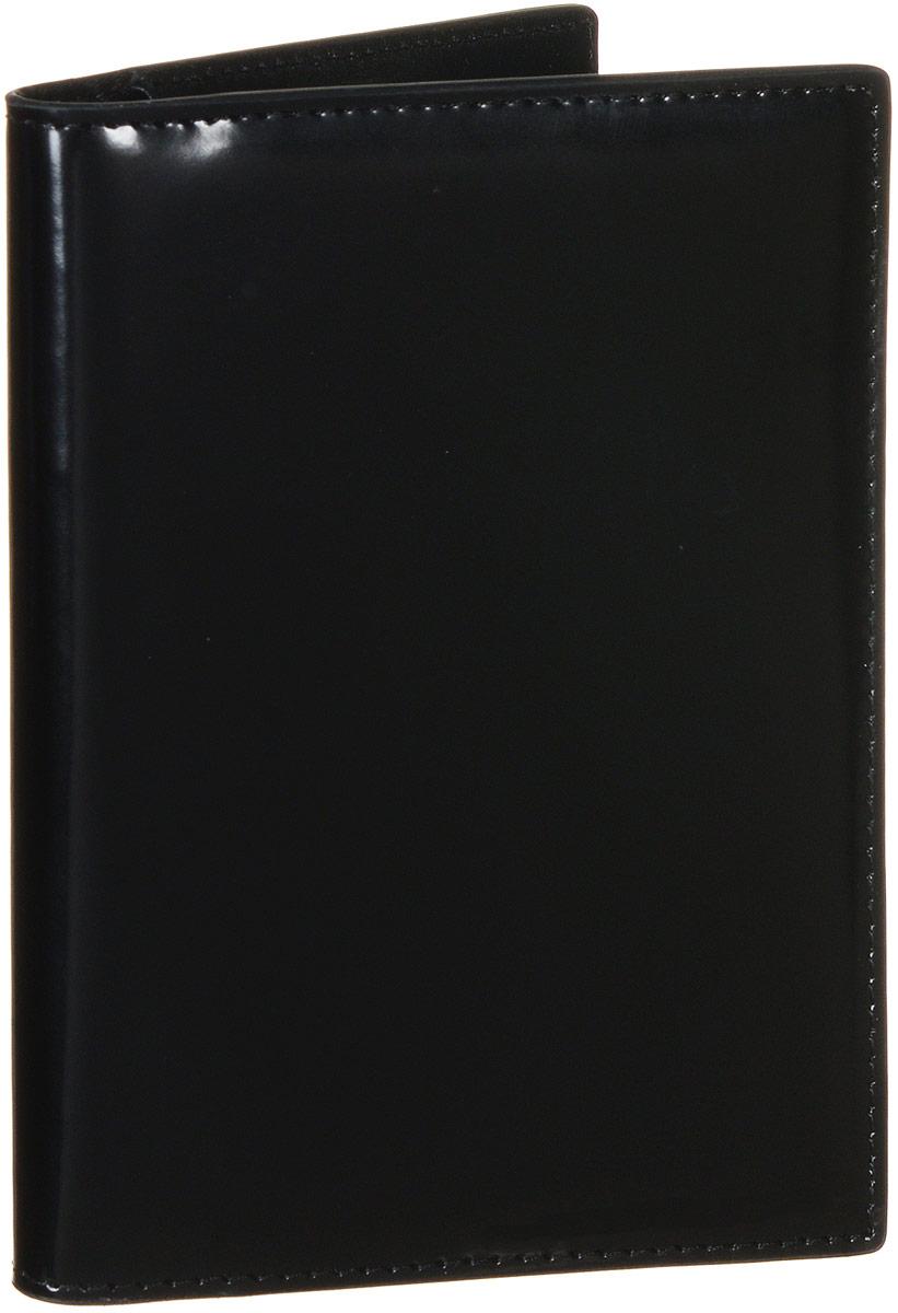 Обложка для документов Vitacci, цвет: черный. HS081A52_108Стильная обложка для документов от Vitacci выполнена из натуральной гладкой кожи. Внутри расположено два боковых кармана, один из которых прозрачный и пять карманов для визиток. Также внутри находится съемный блок из шести прозрачных файлов из мягкого пластика, один из которых формата А5, а также четыре накладных кармана для визиток или кредитных карт.Изделие упаковано вфирменную коробку. Такая обложка для документов идеально подойдет для любого образа и сохранит ваши документы.