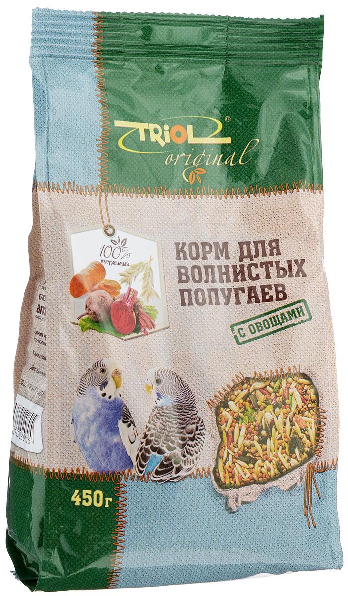 Корм для волнистых попугаев Triol, с овощами, 450 г веселый попугай отборное зерно для средних попугаев 450 г