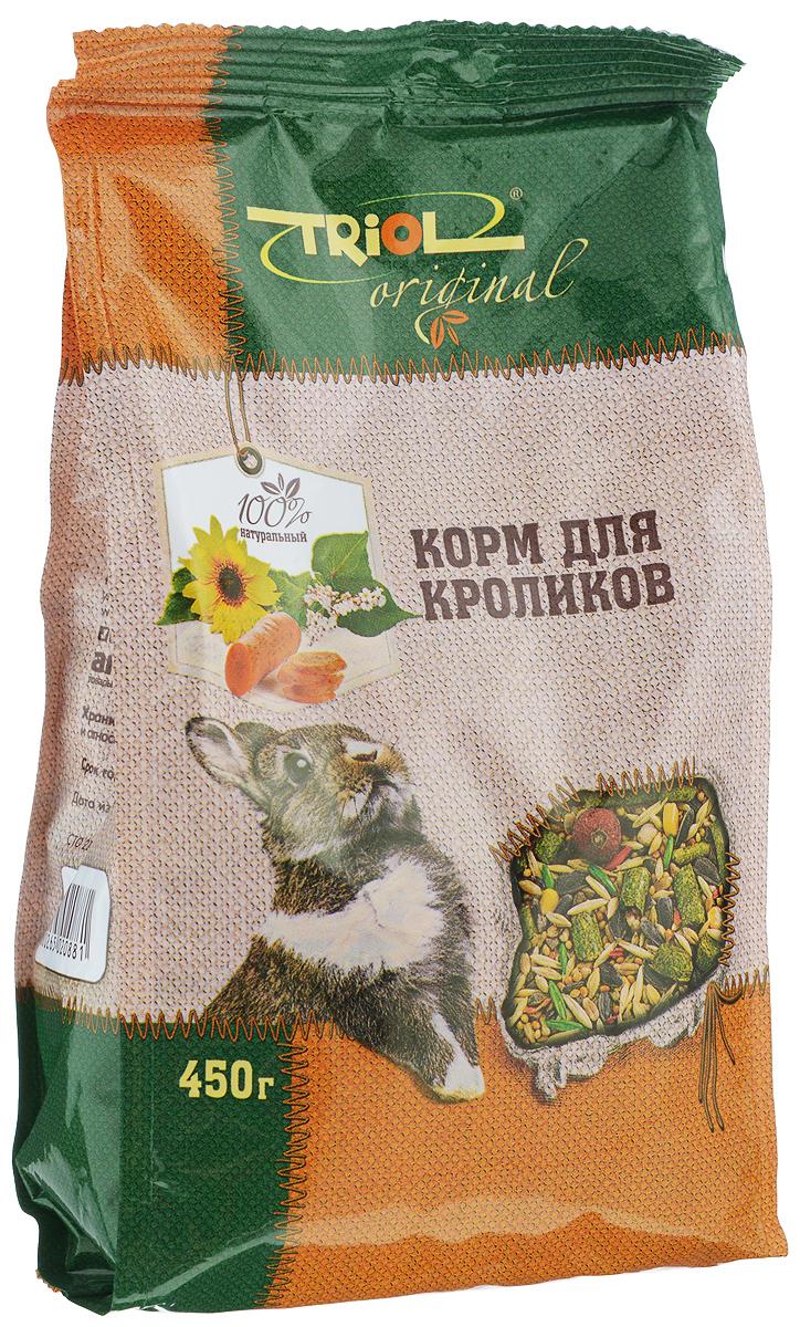Корм для кроликов Triol, 450 гTF-01000Полнорационный корм Triol разработан специально для питания кроликов и содержит только натуральные компоненты. Содержащиеся в составе травяные гранулы, заменяют в диете кролика свежую траву, являющуюся основным источником витаминов.Товар сертифицирован.