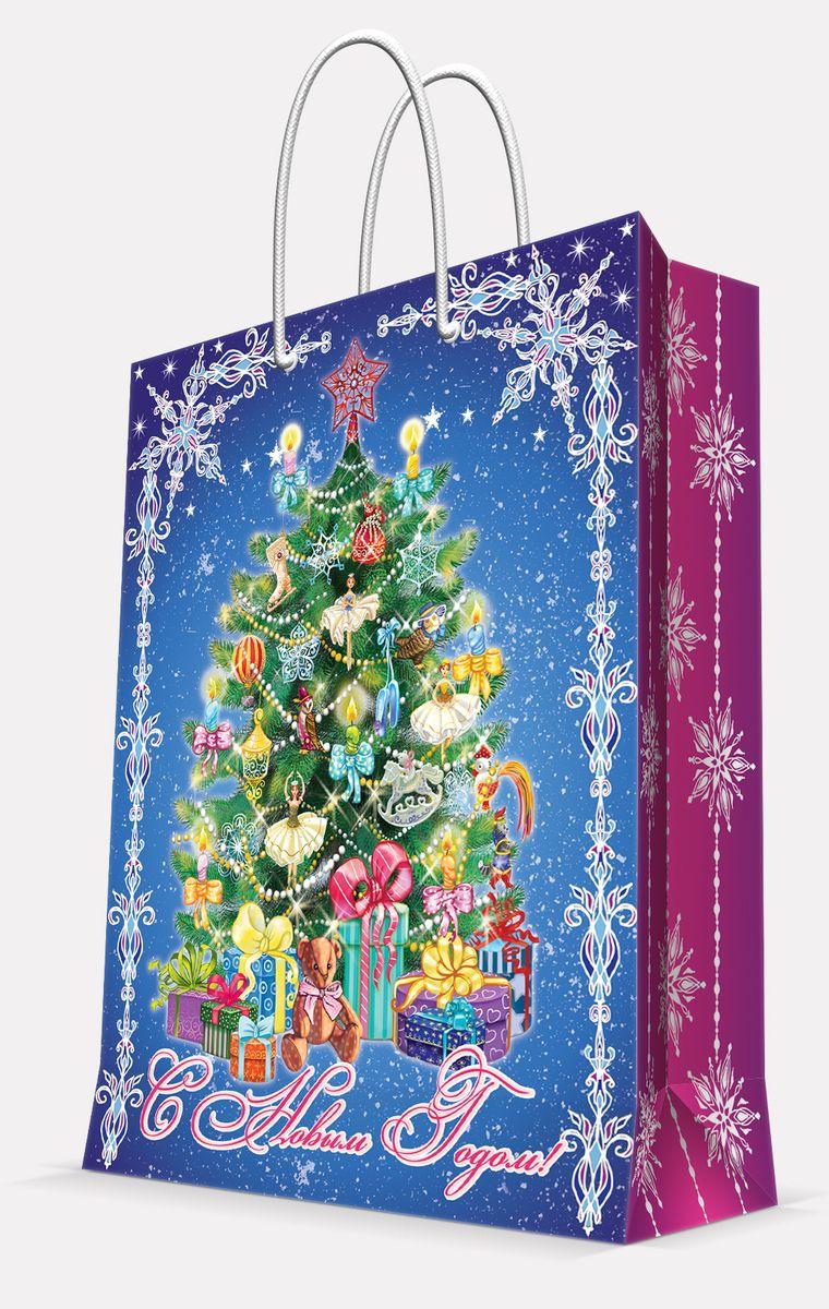 Пакет подарочный Magic Time Пушистая елочка, 26 х 32,4 х 12,7 см7716562Подарочный пакет Magic Time Пушистая елочка, изготовленный из плотной бумаги, станет незаменимым дополнением к выбранному подарку. Пакет выполнен с глянцевой ламинацией, что придает ему прочность, а изображению - яркость и насыщенность цветов. Для удобной переноски на пакете имеются две ручки из шнурков.Подарок, преподнесенный в оригинальной упаковке, всегда будет самым эффектным и запоминающимся. Окружите близких людей вниманием и заботой, вручив презент в нарядном, праздничном оформлении.Плотность бумаги: 140 г/м2.