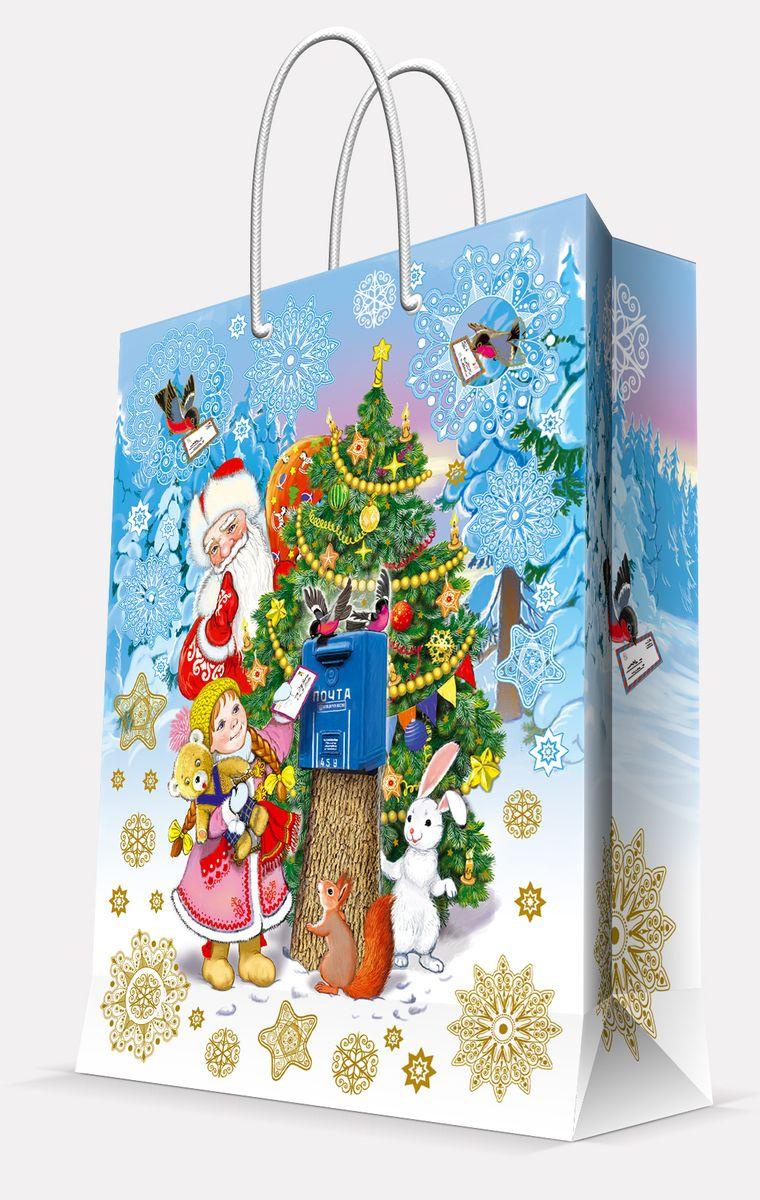 Пакет подарочный Magic Time Почта Деда Мороза, 26 х 32,4 х 12,7 см685686_3016 пушистые пионыПодарочный пакет Magic Time Почта Деда Мороза, изготовленный из плотной бумаги, станет незаменимым дополнением к выбранному подарку. Пакет выполнен с глянцевой ламинацией, что придает ему прочность, а изображению - яркость и насыщенность цветов. Для удобной переноски на пакете имеются две ручки из шнурков.Подарок, преподнесенный в оригинальной упаковке, всегда будет самым эффектным и запоминающимся. Окружите близких людей вниманием и заботой, вручив презент в нарядном, праздничном оформлении.Плотность бумаги: 140 г/м2.
