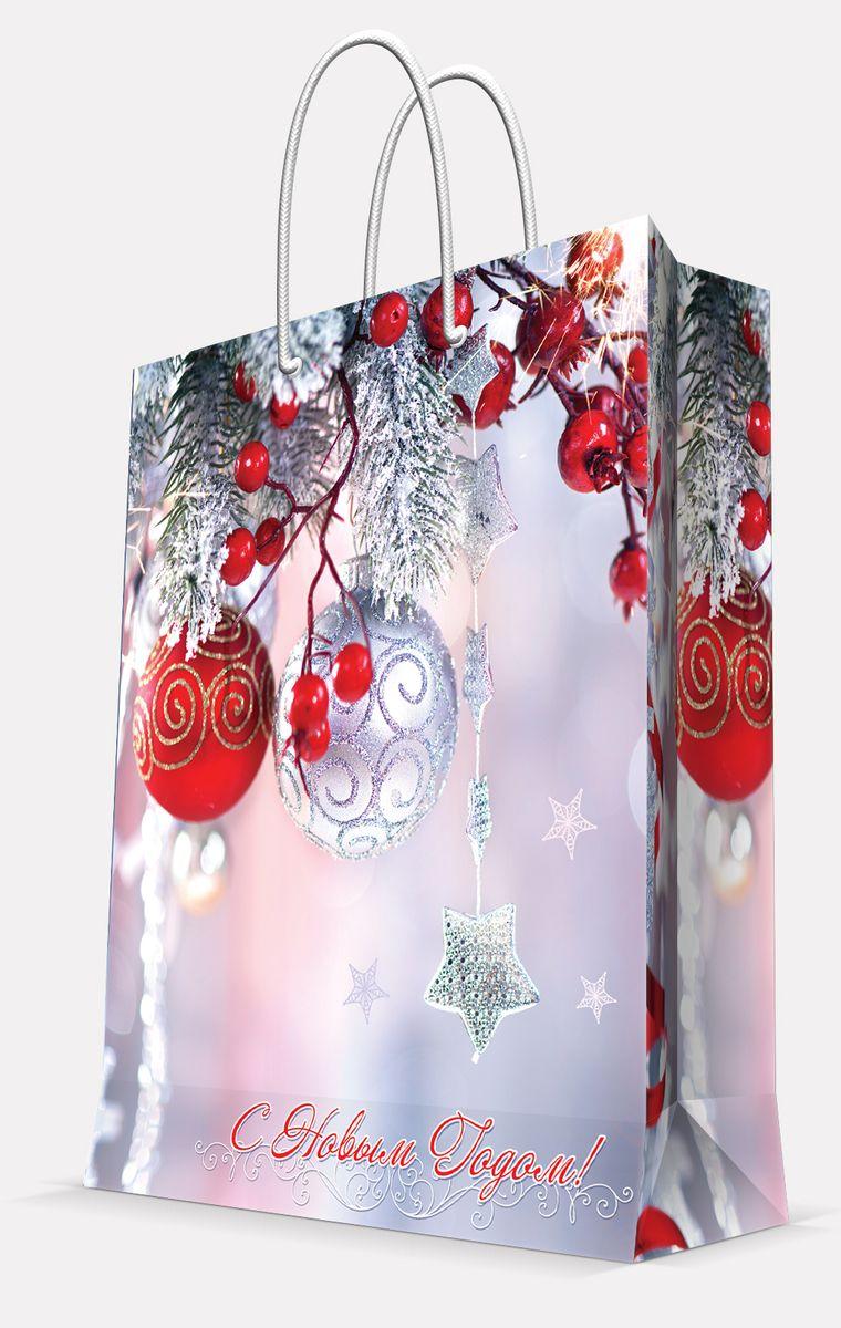 Пакет подарочный Magic Time Шарики и звездочка, 40,6 х 48,9 х 9,8 смC0038550Подарочный пакет Magic Time Шарики и звездочка, изготовленный из плотной бумаги, станет незаменимым дополнением к выбранному подарку. Пакет выполнен с глянцевой ламинацией, что придает ему прочность, а изображению - яркость и насыщенность цветов. Для удобной переноски на пакете имеются две ручки из шнурков.Подарок, преподнесенный в оригинальной упаковке, всегда будет самым эффектным и запоминающимся. Окружите близких людей вниманием и заботой, вручив презент в нарядном, праздничном оформлении.Плотность бумаги: 157 г/м2.