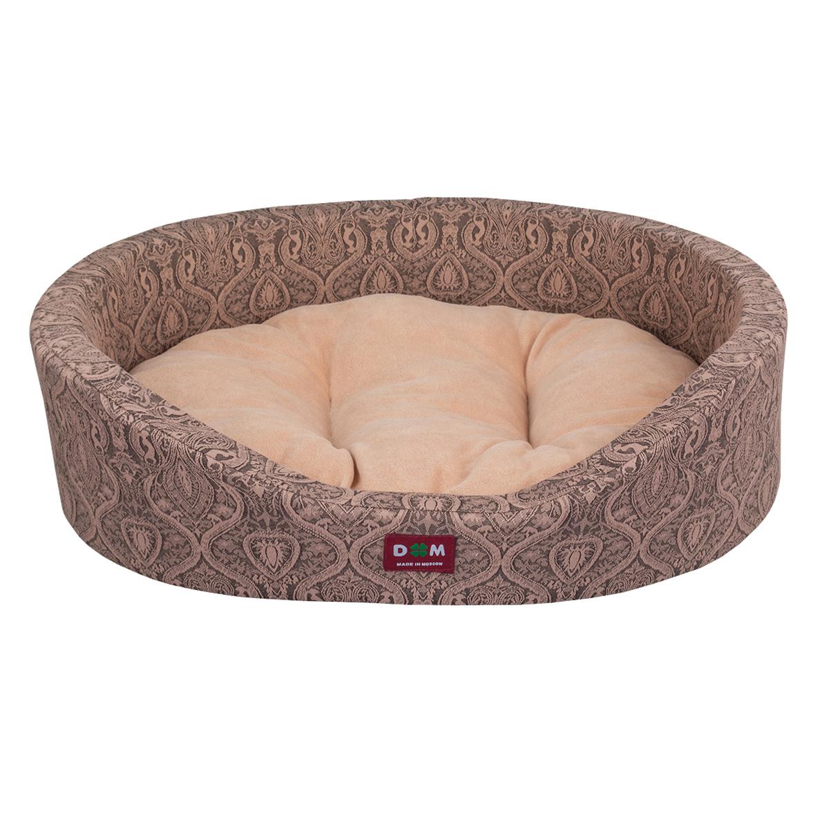 Лежак для животных Dogmoda Дуэт, цвет: бежевый, 60 х 48 х 12 см0120710Лежак для животных Dogmoda Дуэт прекрасно подойдет для отдыха вашего домашнего питомца. Предназначен для собак мелких и средних пород и кошек. Изделие выполнено из жаккарда с изысканным узором, внутри - мягкий наполнитель из поролона, который обеспечивает комфорт и уют. Лежак снабжен съемной велюровой подушкой с холлофайбером внутри. Изделие имеет высокие бортики. Комфортный и уютный лежак обязательно понравится вашему питомцу, животное сможет там отдохнуть и выспаться. Высокий уровень комфорта, спокойный благородный цвет и мягкость сделают этот лежак любимым местом отдыха вашего питомца.