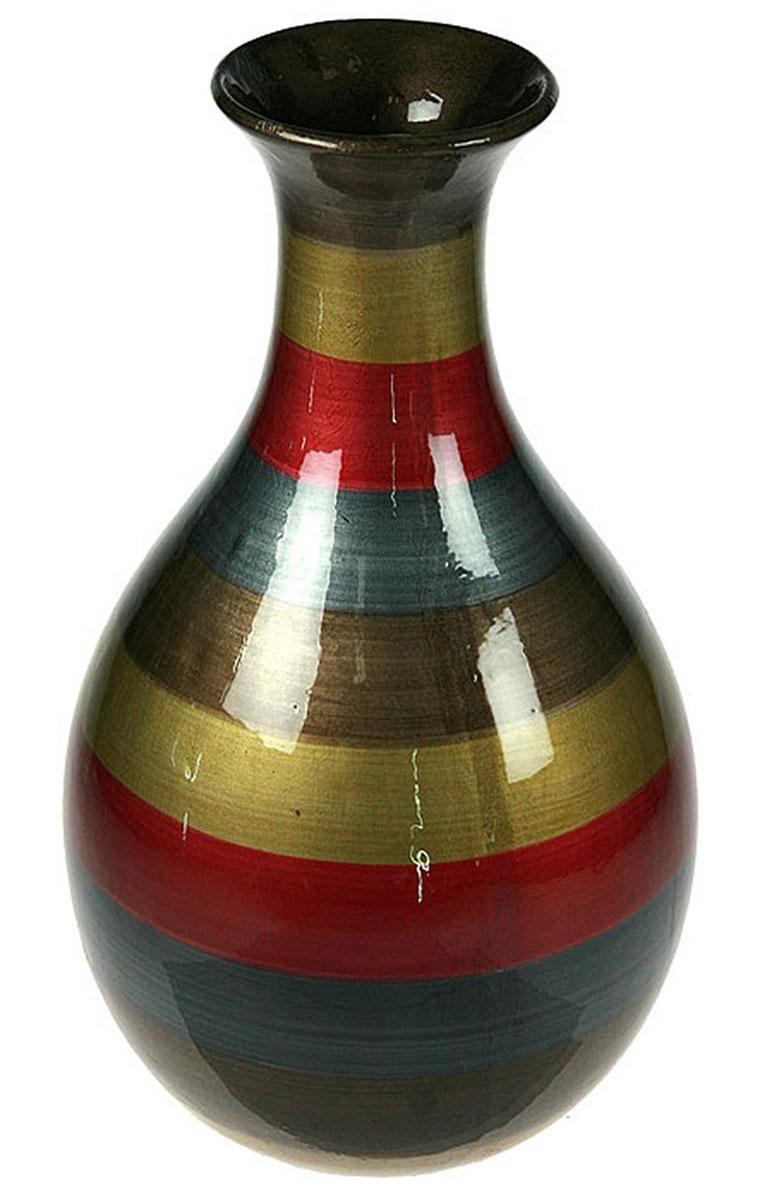 Ваза Русские Подарки, высота 34 см. 115912FS-91909Ваза Русские Подарки, выполненная из керамики, украсит интерьер вашего дома или офиса. Оригинальный дизайн и красочное исполнение создадут праздничное настроение.Такая ваза подойдет и для цветов, и для декора интерьера. Кроме того - это отличный вариант подарка для ваших близких и друзей.Правила ухода: мыть теплой водой с применением нейтральных моющих средств. Размер вазы: 20 х 20 х 34 см.