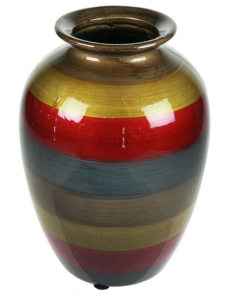 Ваза Русские Подарки, высота 24 см. 115913FS-91909Ваза Русские Подарки, выполненная из керамики, украсит интерьер вашего дома или офиса. Оригинальный дизайн и красочное исполнение создадут праздничное настроение.Такая ваза подойдет и для цветов, и для декора интерьера. Кроме того - это отличный вариант подарка для ваших близких и друзей.Правила ухода: мыть теплой водой с применением нейтральных моющих средств. Размер вазы: 18 х 18 х 24 см.