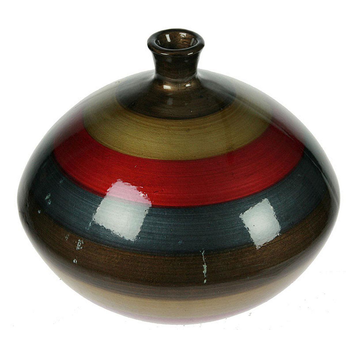 Ваза Русские Подарки, высота 14 см. 115914FS-91909Ваза Русские Подарки, выполненная из керамики, украсит интерьер вашего дома или офиса. Оригинальный дизайн и красочное исполнение создадут праздничное настроение.Такая ваза подойдет и для цветов, и для декора интерьера. Кроме того - это отличный вариант подарка для ваших близких и друзей.Правила ухода: мыть теплой водой с применением нейтральных моющих средств. Размер вазы: 28 х 28 х 14 см.