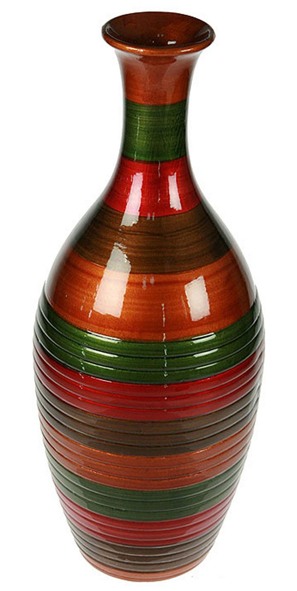 Ваза Русские Подарки, высота 41 см. 115918FS-80299Ваза Русские Подарки, выполненная из керамики, украсит интерьер вашего дома или офиса. Оригинальный дизайн и красочное исполнение создадут праздничное настроение.Такая ваза подойдет и для цветов, и для декора интерьера. Кроме того - это отличный вариант подарка для ваших близких и друзей.Правила ухода: мыть теплой водой с применением нейтральных моющих средств. Размер вазы: 18 х 18 х 41 см.