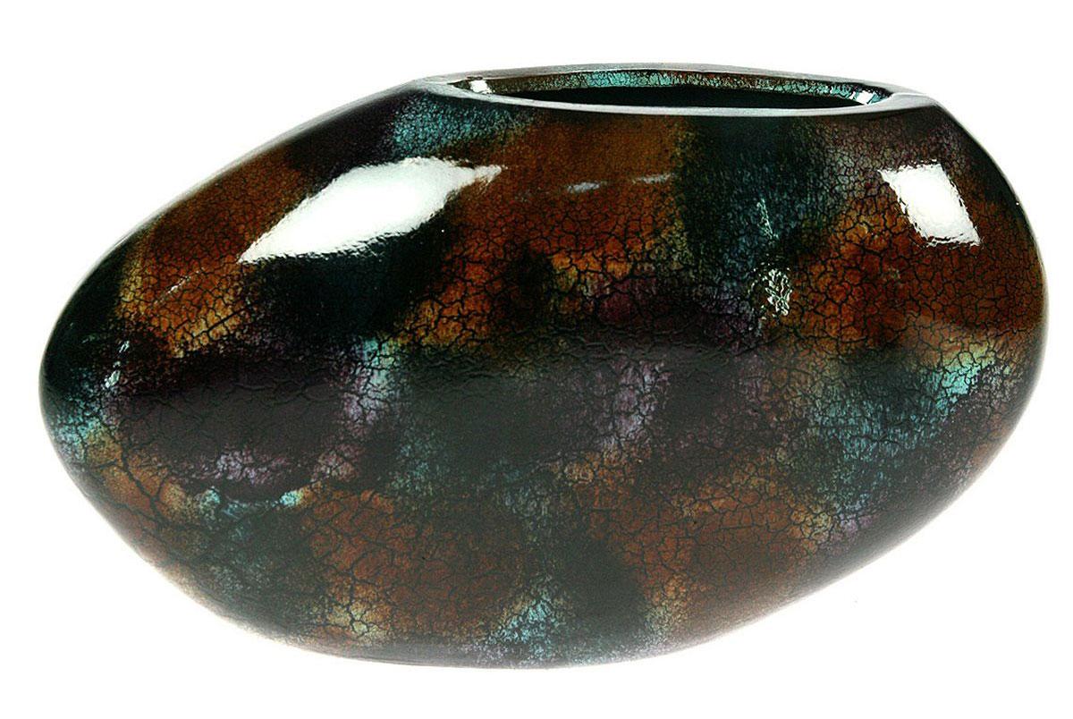 Ваза Русские Подарки, 31 х 10 х 18 см. 11592198298123_черныйВаза Русские Подарки, выполненная из керамики, украсит интерьер вашего дома или офиса. Оригинальный дизайн и красочное исполнение создадут праздничное настроение.Такая ваза подойдет и для цветов, и для декора интерьера. Кроме того - это отличный вариант подарка для ваших близких и друзей.Правила ухода: мыть теплой водой с применением нейтральных моющих средств. Размер вазы: 31 х 10 х 18 см.