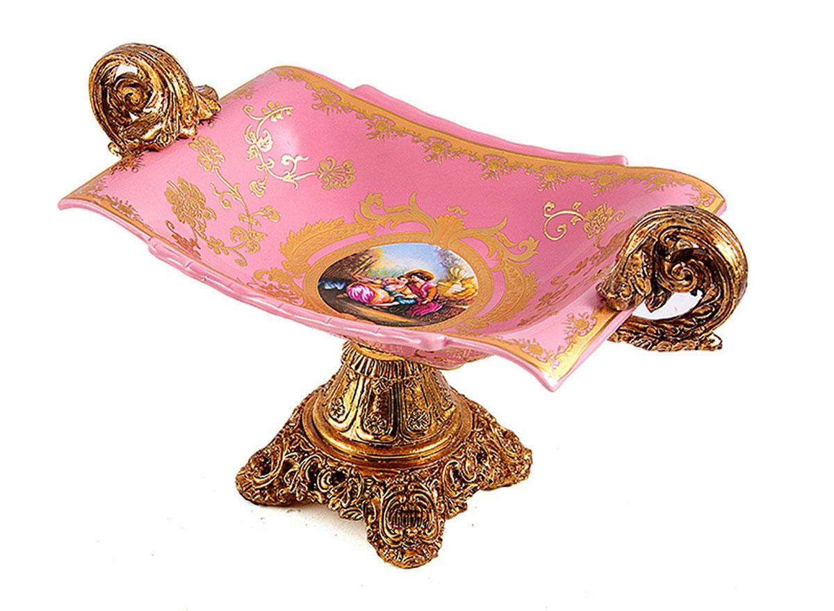 Ваза Русские Подарки, 28 х 15,5 х 16 см. 15123054 009312Декоративная ваза Русские Подарки украсит интерьер вашего дома или офиса. Оригинальный дизайн и красочное исполнение создадут праздничное настроение. Кроме того - это отличный вариант подарка для ваших близких и друзей.Не рекомендуется применять абразивные моющиесредства.Размер вазы: 28 х 15,5 х 16 см.