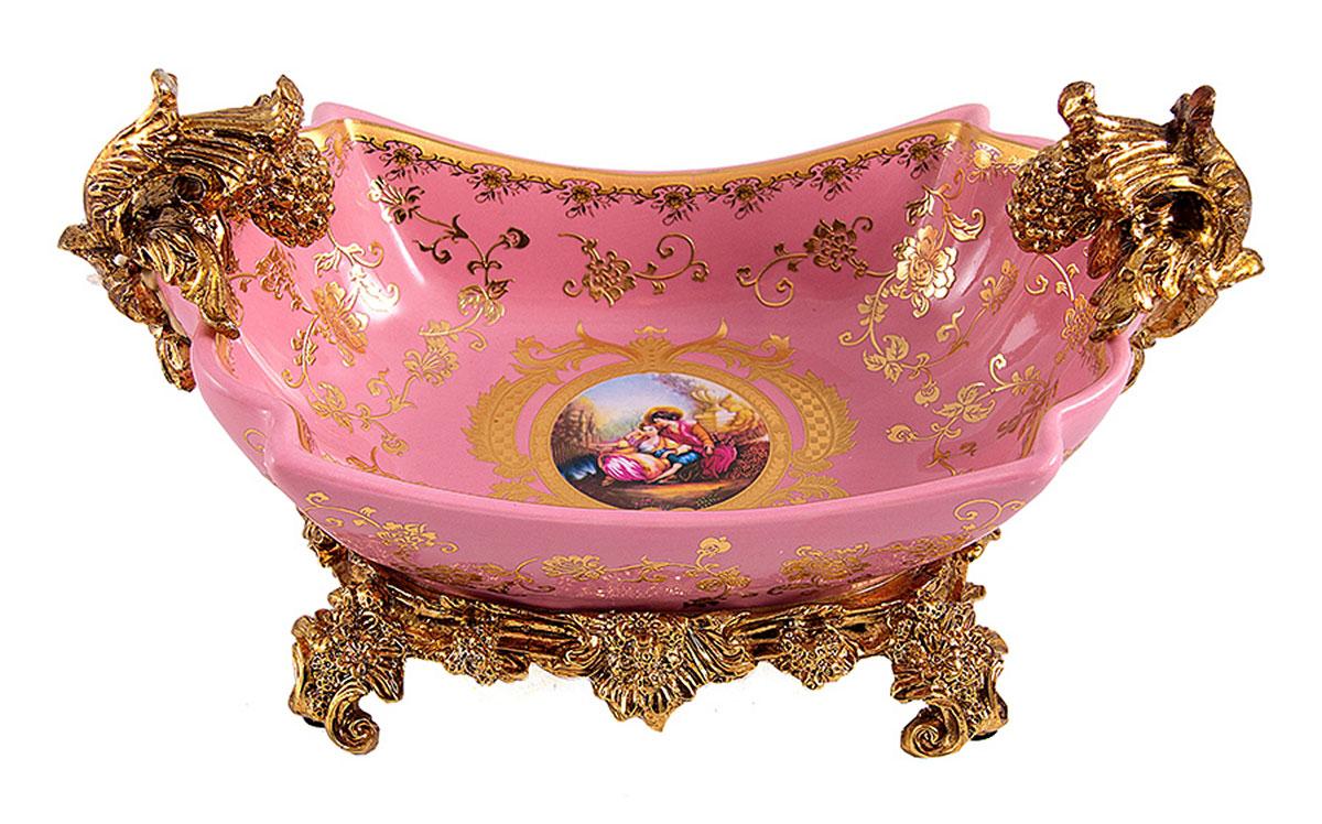 Ваза Русские Подарки, диаметр 31 см. 151232FS-80264Декоративная ваза Русские Подарки украсит интерьер вашего дома или офиса. Оригинальный дизайн и красочное исполнение создадут праздничное настроение. Кроме того - это отличный вариант подарка для ваших близких и друзей.Не рекомендуется применять абразивные моющиесредства.