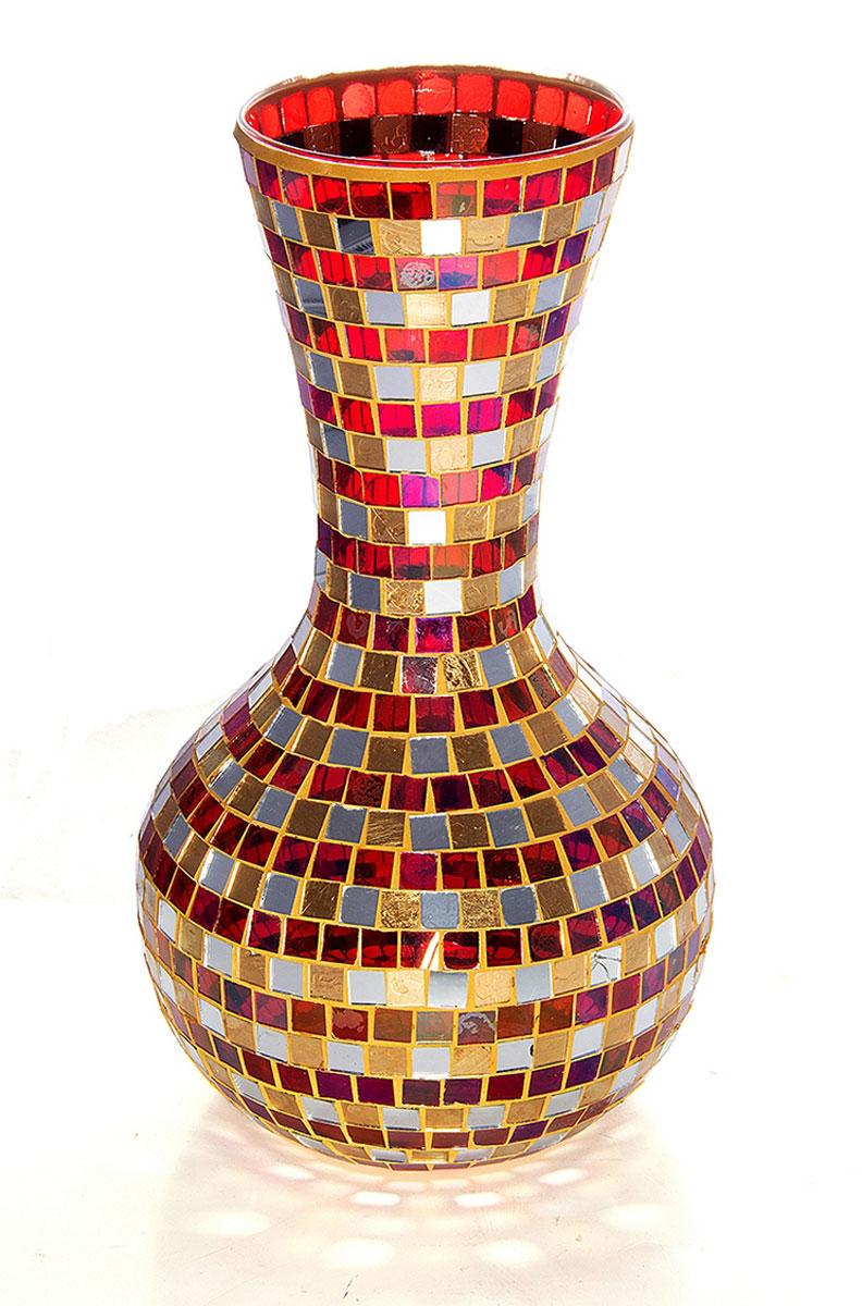 Ваза Русские Подарки Мозаика, высота 35 см. 86715FS-80423Ваза Русские Подарки, выполненная из стекла, украсит интерьер вашего дома или офиса. Оригинальный дизайн и красочное исполнение создадут праздничное настроение.Такая ваза подойдет и для цветов, и для декора интерьера. Кроме того - это отличный вариант подарка для ваших близких и друзей.Правила ухода: мыть теплой водой с применением нейтральных моющих средств.Размер вазы: 20 х 20 х 35 см.