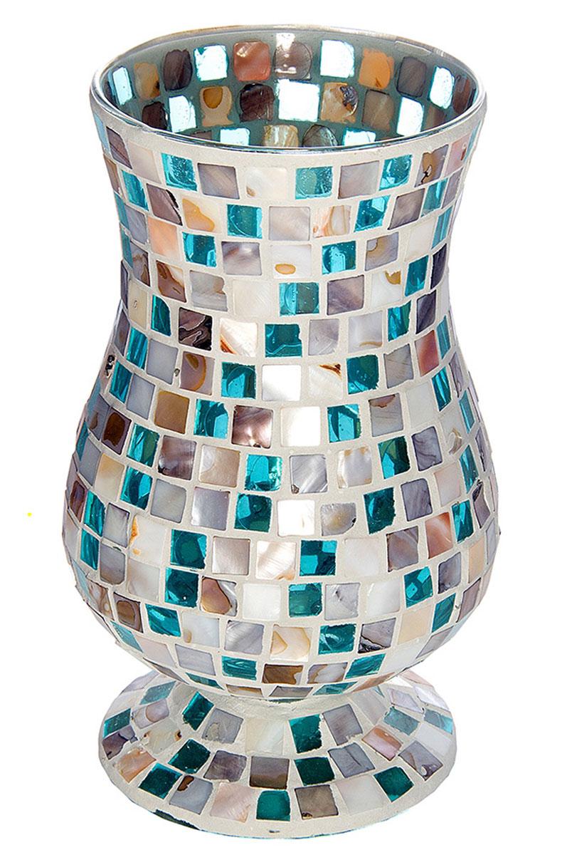 Ваза Русские Подарки Мозаика, высота 24 см. 8672936613Ваза Русские Подарки, выполненная из стекла, украсит интерьер вашего дома или офиса. Оригинальный дизайн и красочное исполнение создадут праздничное настроение.Такая ваза подойдет и для цветов, и для декора интерьера. Кроме того - это отличный вариант подарка для ваших близких и друзей.Правила ухода: мыть теплой водой с применением нейтральных моющих средств.