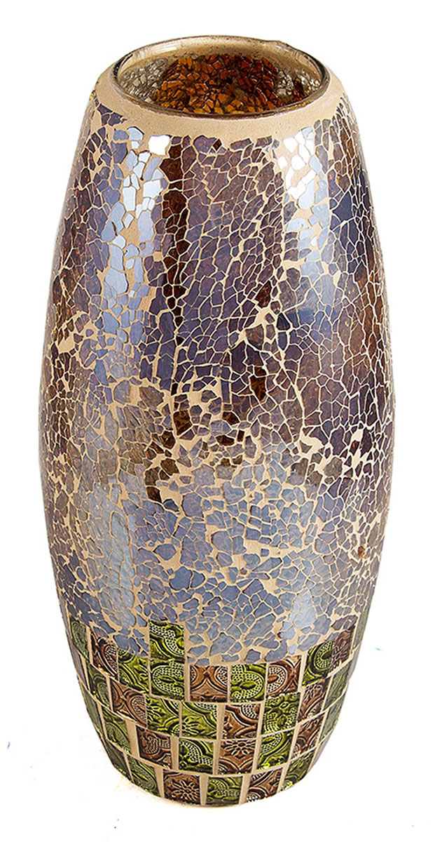 Ваза Русские Подарки Мозаика, высота 30 см. 86734151202Ваза Русские Подарки, выполненная из стекла, украсит интерьер вашего дома или офиса. Оригинальный дизайн и красочное исполнение создадут праздничное настроение.Такая ваза подойдет и для цветов, и для декора интерьера. Кроме того - это отличный вариант подарка для ваших близких и друзей.Правила ухода: мыть теплой водой с применением нейтральных моющих средств.