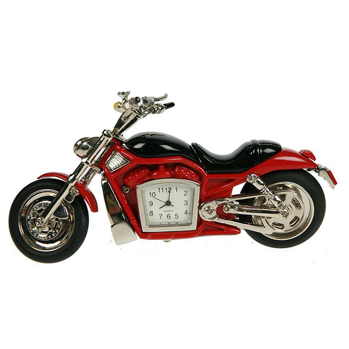 Часы настольные Русские Подарки Мотоцикл, 1 х 12 х 6 см. 2242322423Настольные часы Русские подарки Мотоцикл - очень оригинальные и стильные настольные часы. Корпус выполнен из металла. Они прекрасно впишутся практически в любой интерьер и станут превосходным украшением вашей комнаты. Это красивый и практичный подарок на любое торжество для родных и близких.