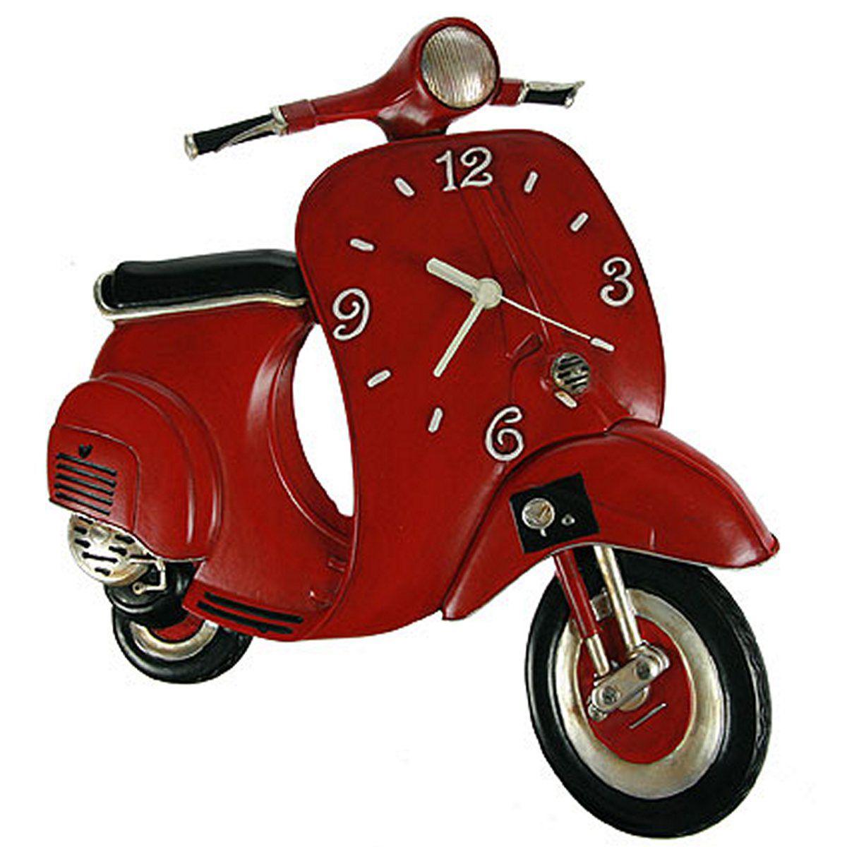 Часы настенные Русские Подарки Веспа, 32 х 7 х 37 см. 22486717619Настенные кварцевые часы Русские Подарки Веспа изготовлены из полистоуна. Корпус оригинально оформлен в виде мотороллера. Часы имеют три стрелки - часовую, минутную и секундную. С обратной стороны имеетсяпетелька для подвешивания на стену. Такие часы красиво и необычно оформят интерьер дома или офиса. Также часы могут стать уникальным, полезным подарком для родственников, коллег, знакомых и близких.Часы работают от батареек типа АА (в комплект не входят).